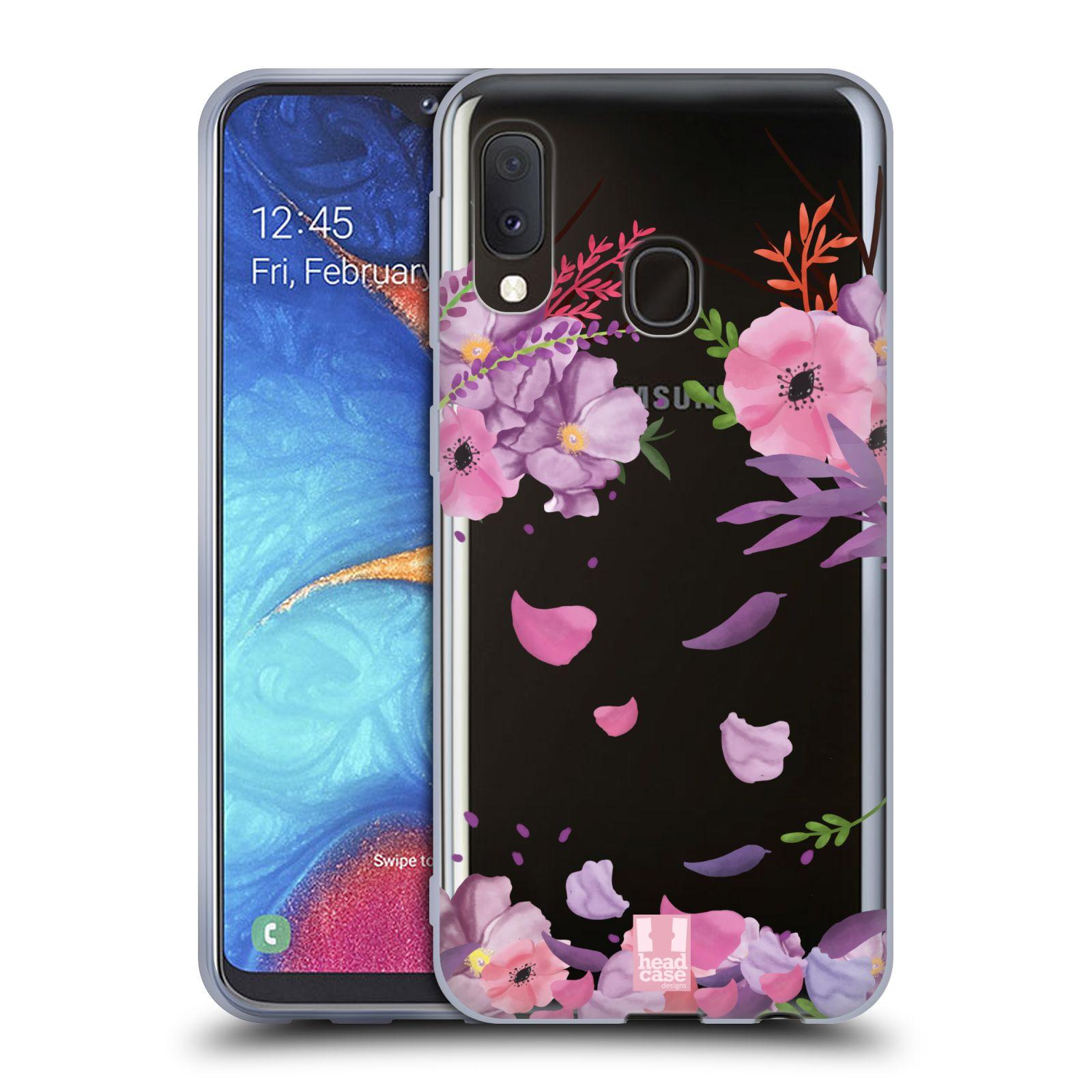 Silikonové pouzdro na mobil Samsung Galaxy A20e - Head Case - Okvětní lístky