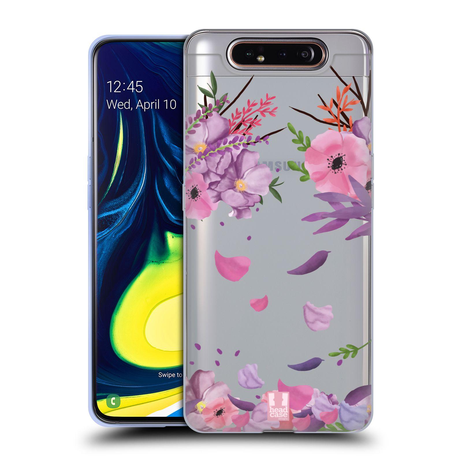Silikonové pouzdro na mobil Samsung Galaxy A80 - Head Case - Okvětní lístky