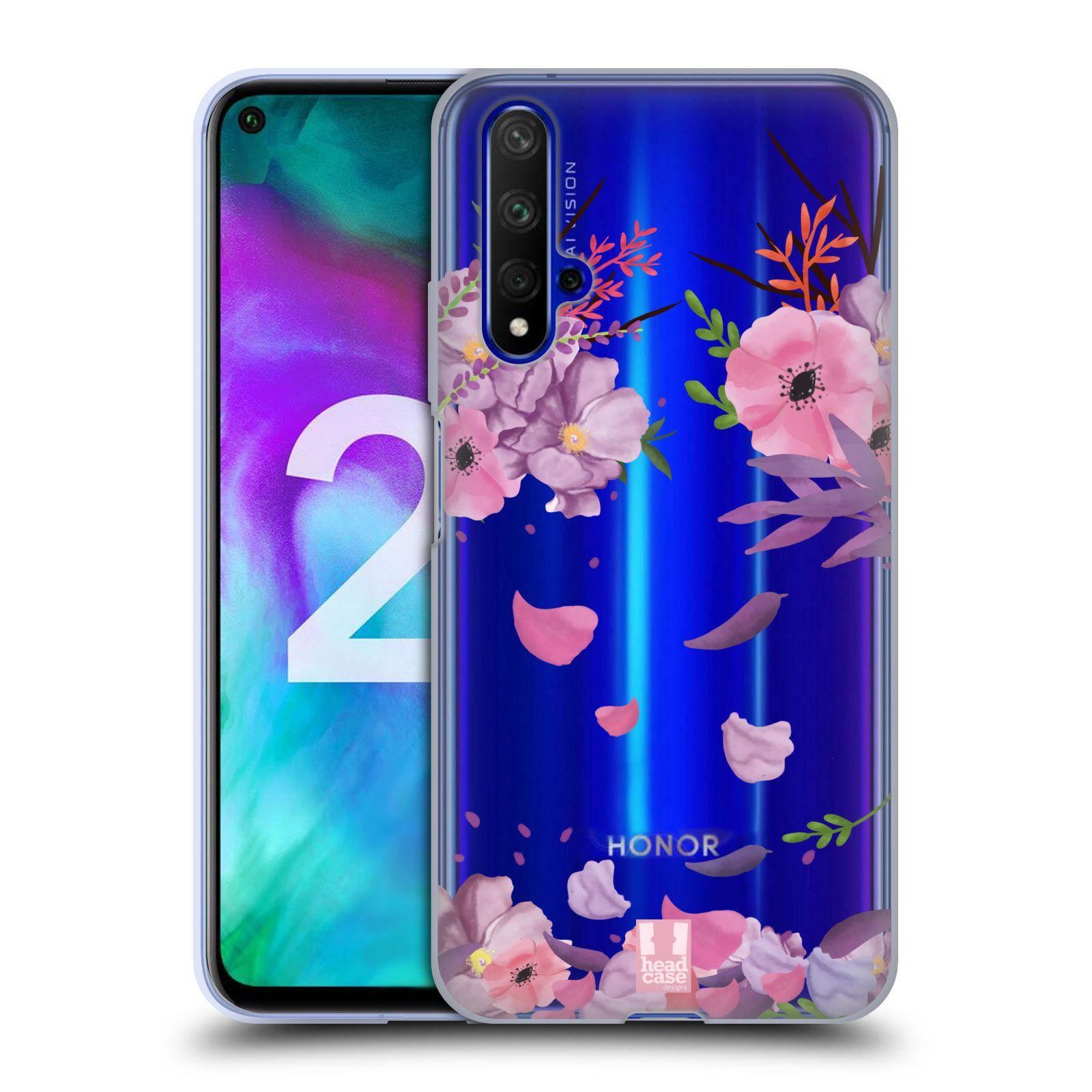 Silikonové pouzdro na mobil Honor 20 - Head Case - Okvětní lístky