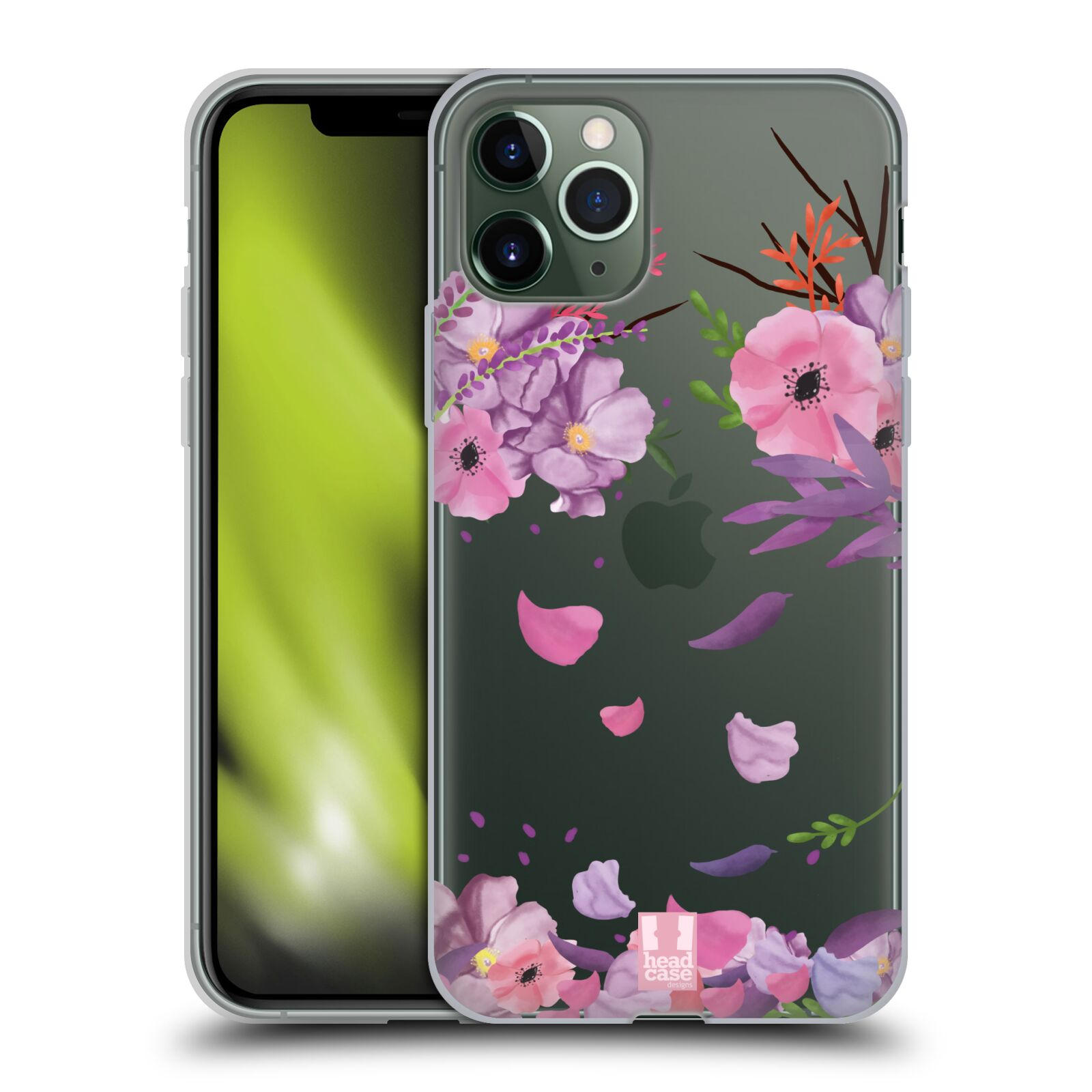 uag kryt iphone 8 , Silikonové pouzdro na mobil Apple iPhone 11 Pro - Head Case - Okvětní lístky
