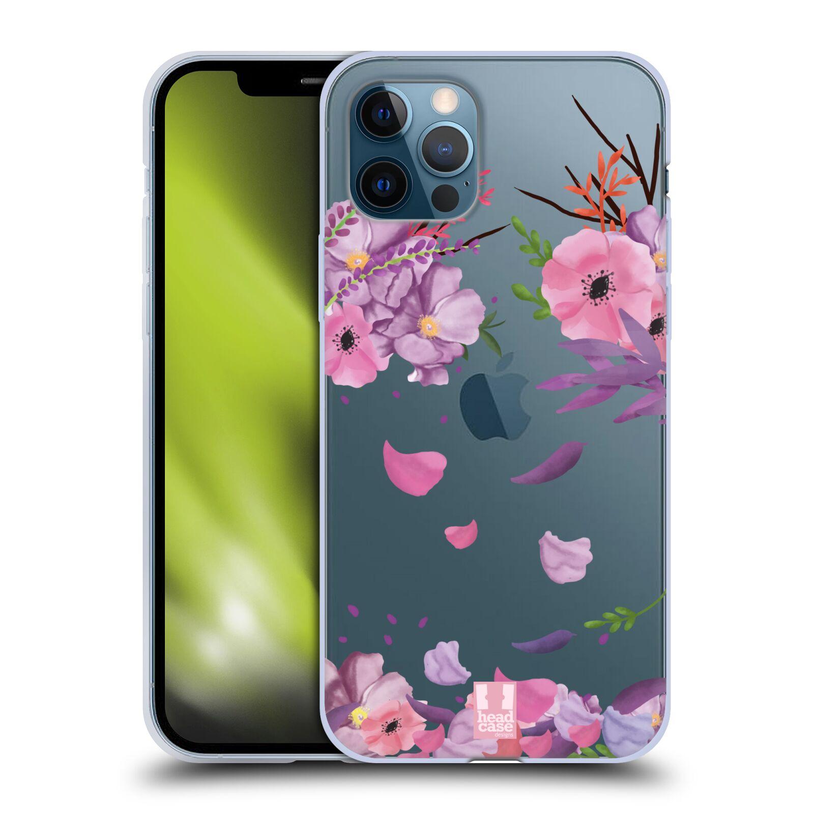 Silikonové pouzdro na mobil Apple iPhone 12 / 12 Pro - Head Case - Okvětní lístky