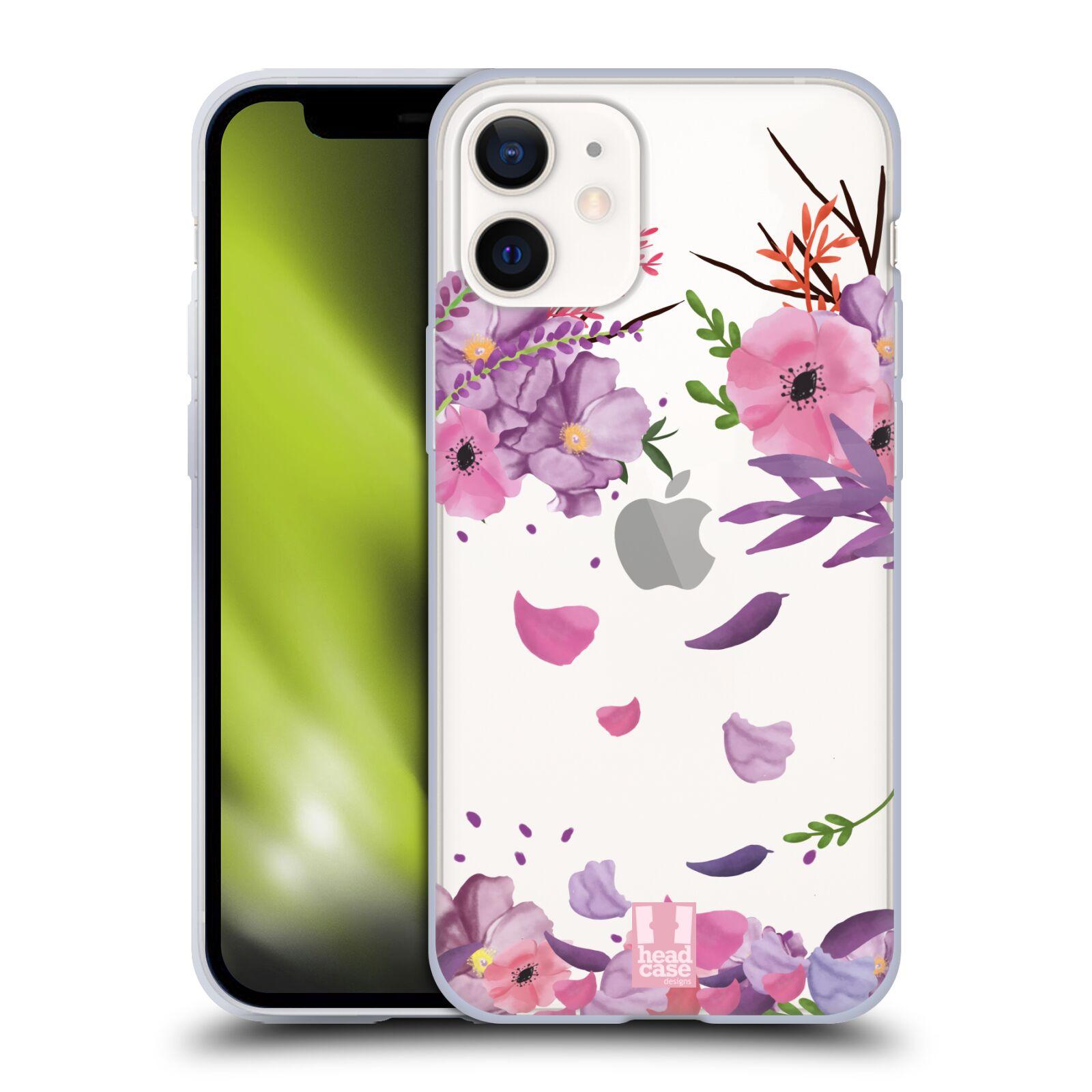 Silikonové pouzdro na mobil Apple iPhone 12 Mini - Head Case - Okvětní lístky