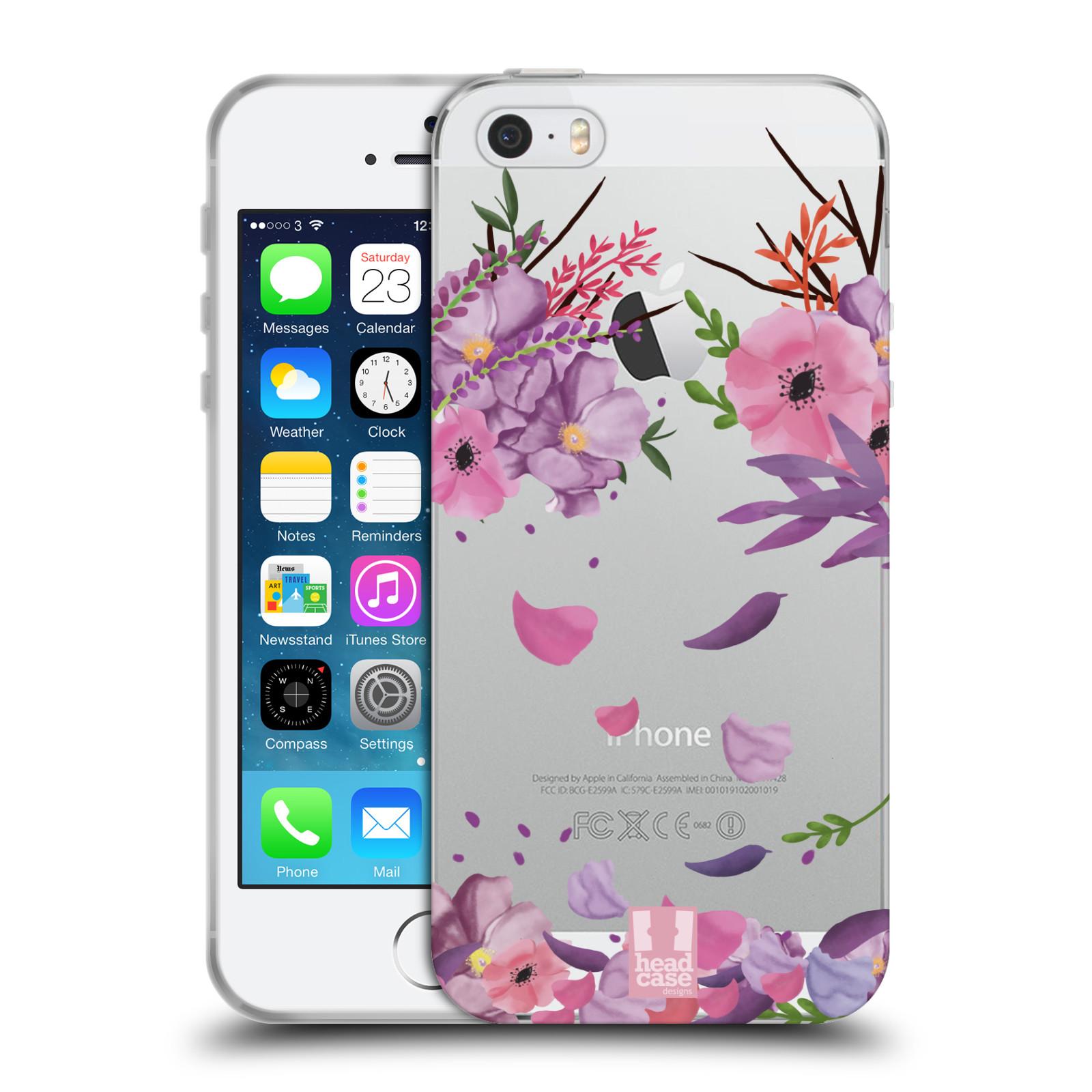 Silikonové pouzdro na mobil Apple iPhone 5, 5S, SE - Head Case - Okvětní lístky