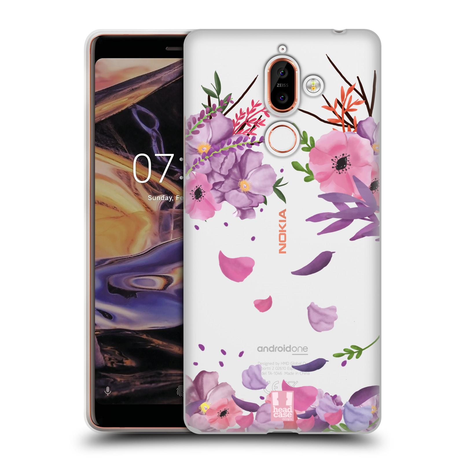 Silikonové pouzdro na mobil Nokia 7 Plus - Head Case - Okvětní lístky