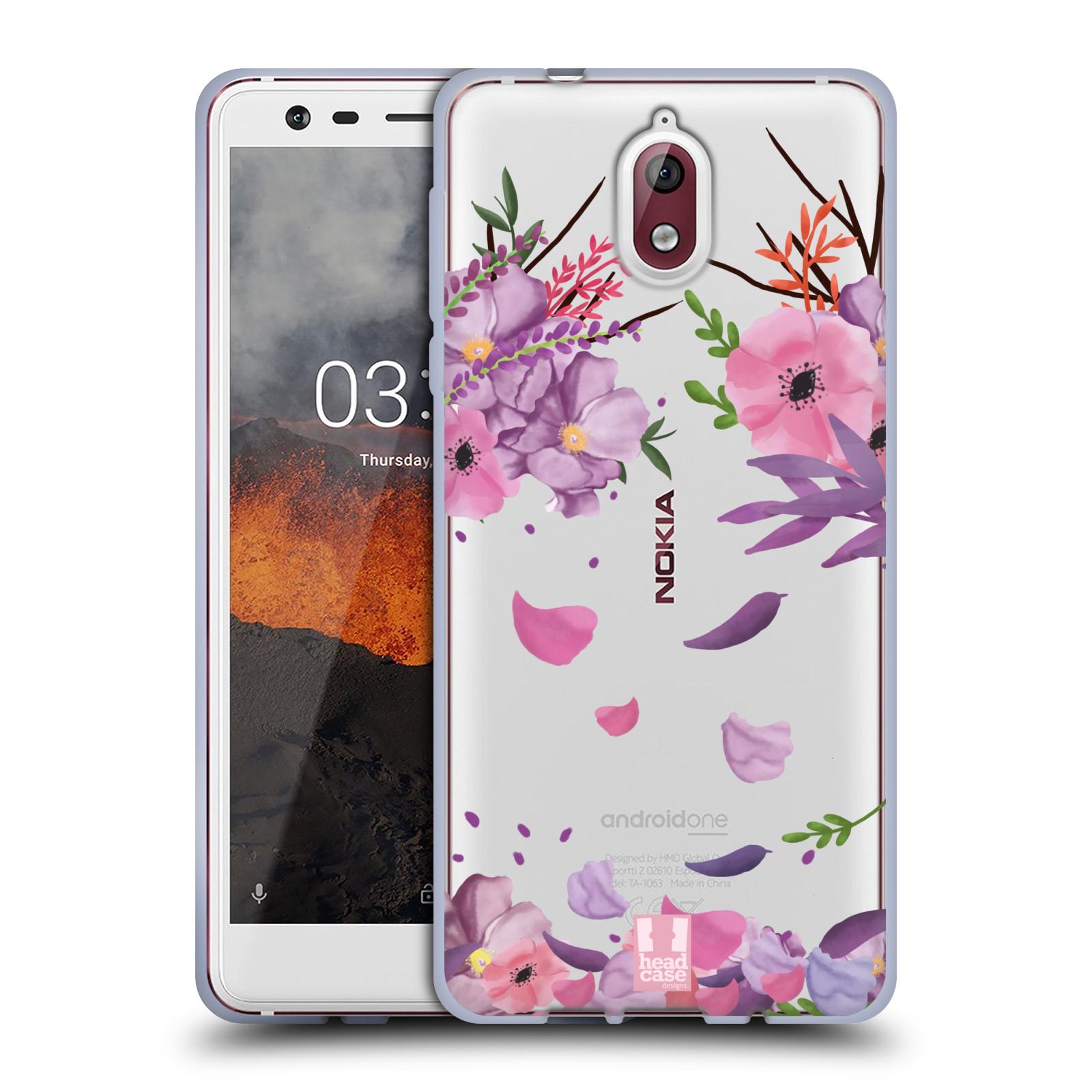 Silikonové pouzdro na mobil Nokia 3.1 - Head Case - Okvětní lístky