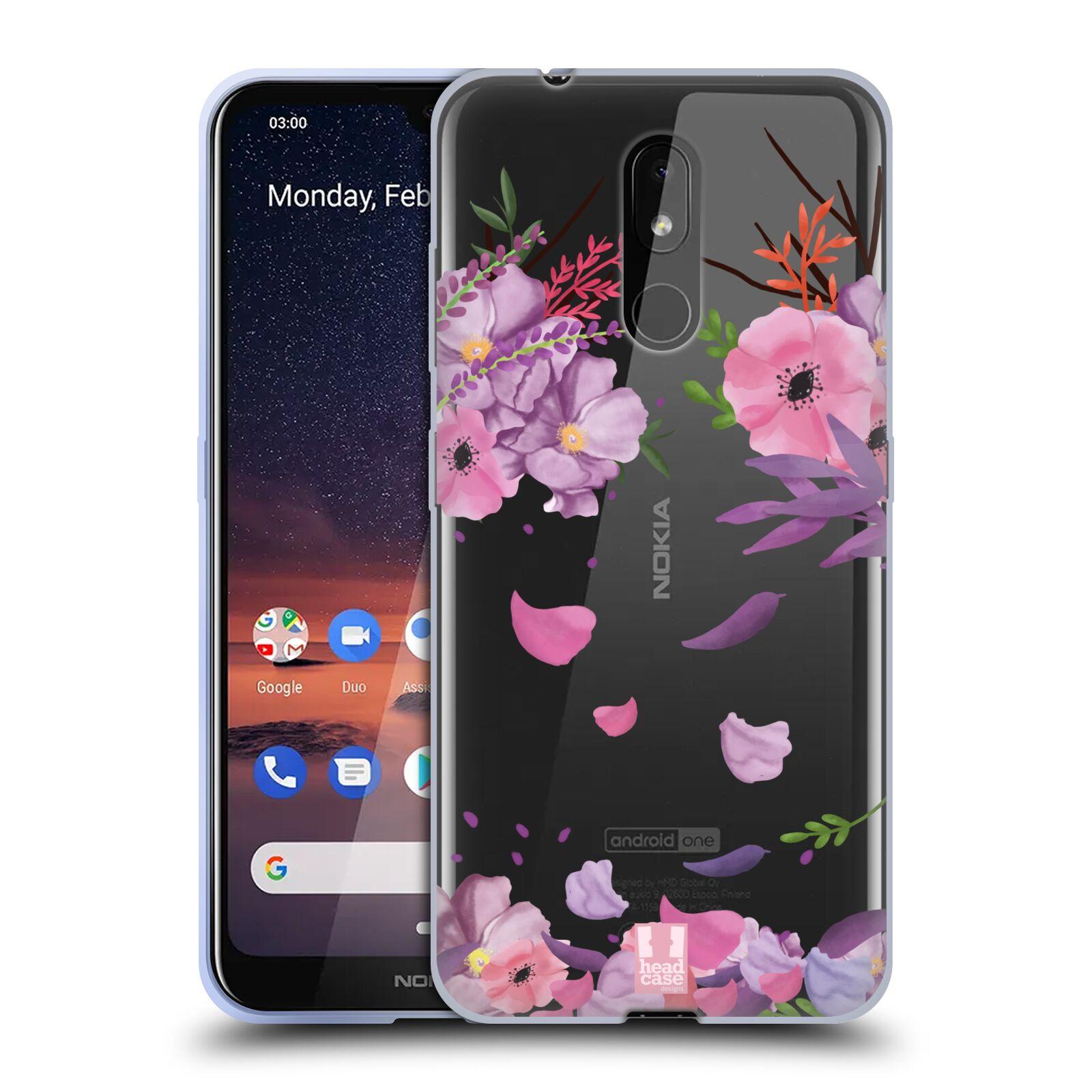 Silikonové pouzdro na mobil Nokia 3.2 - Head Case - Okvětní lístky