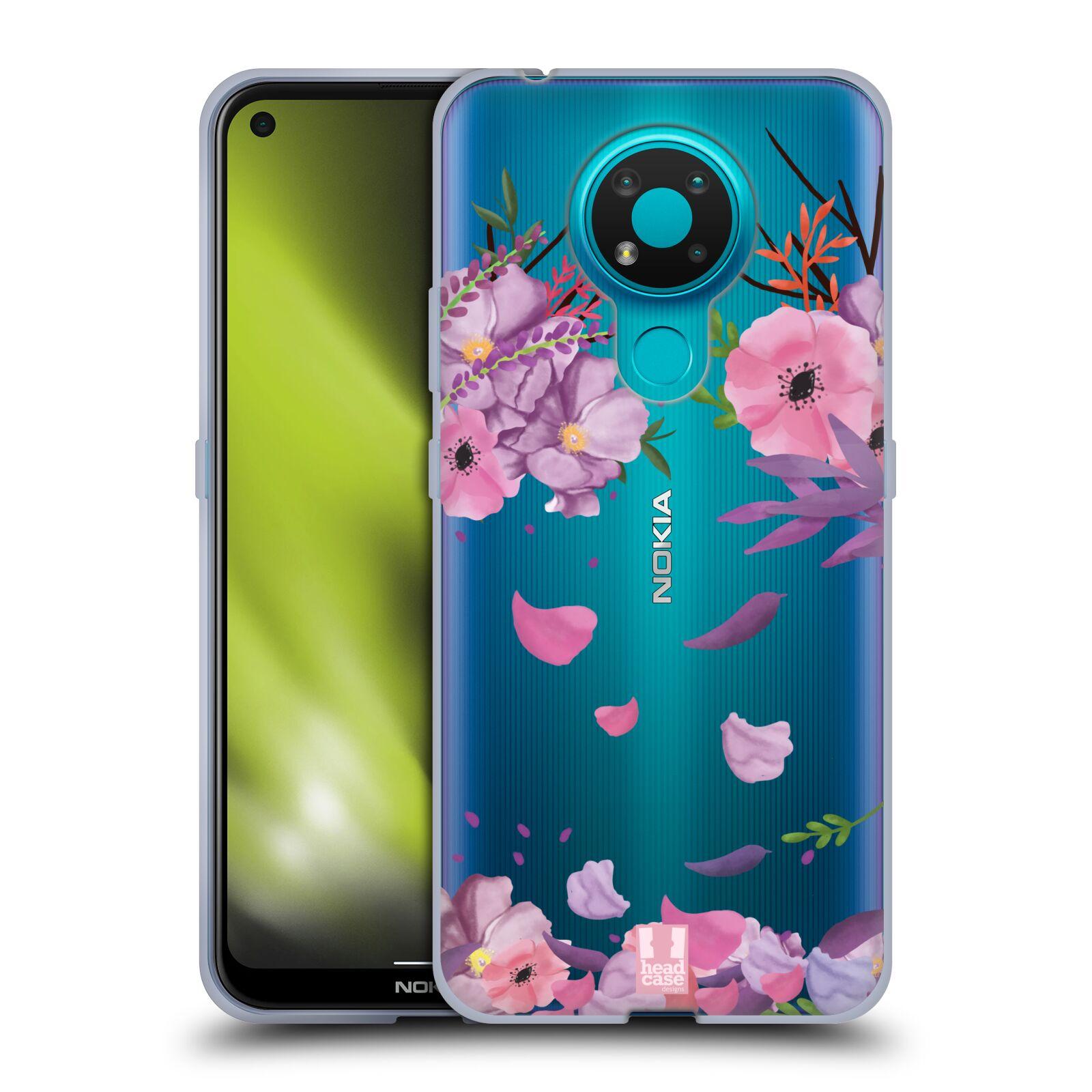 Silikonové pouzdro na mobil Nokia 3.4 - Head Case - Okvětní lístky