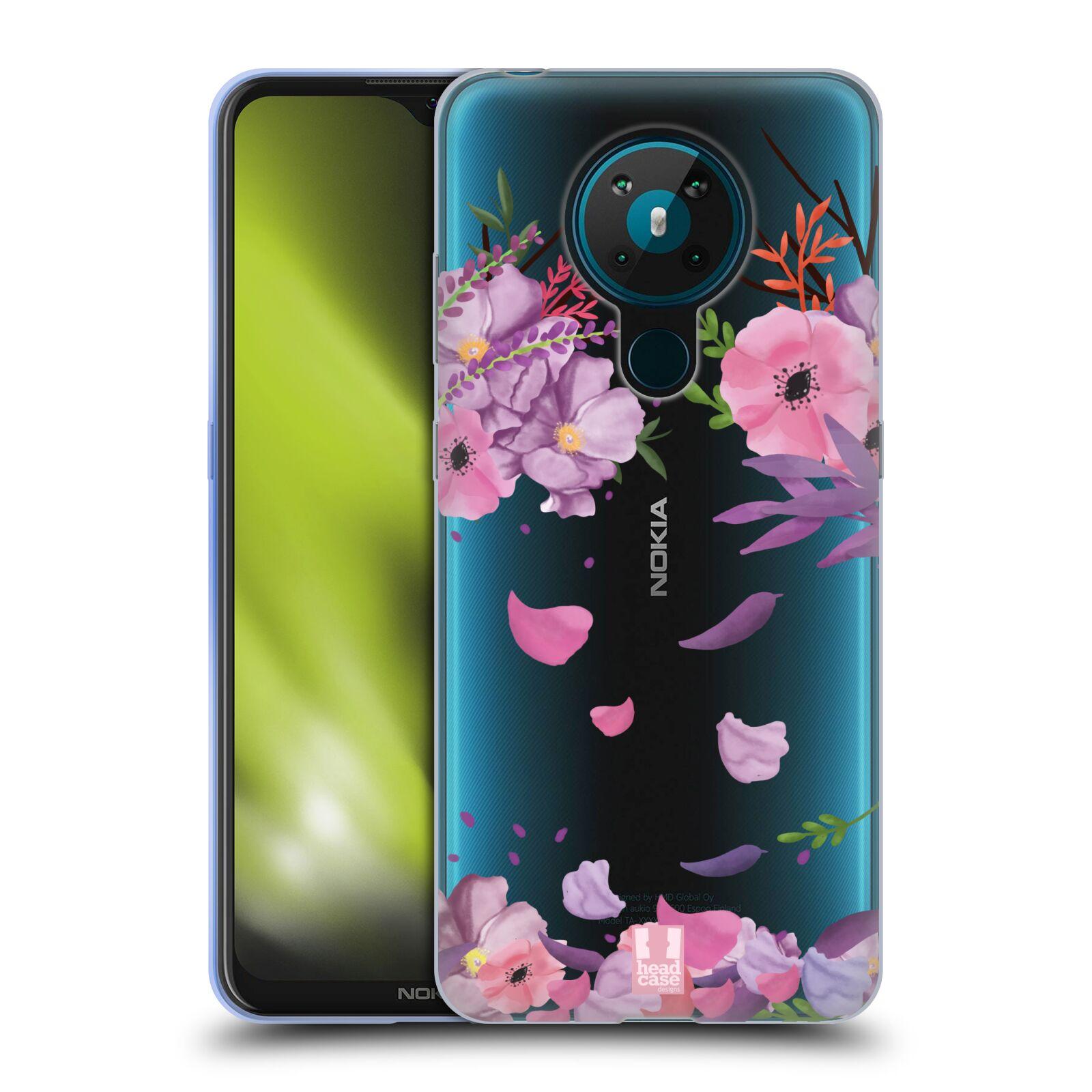 Silikonové pouzdro na mobil Nokia 5.3 - Head Case - Okvětní lístky