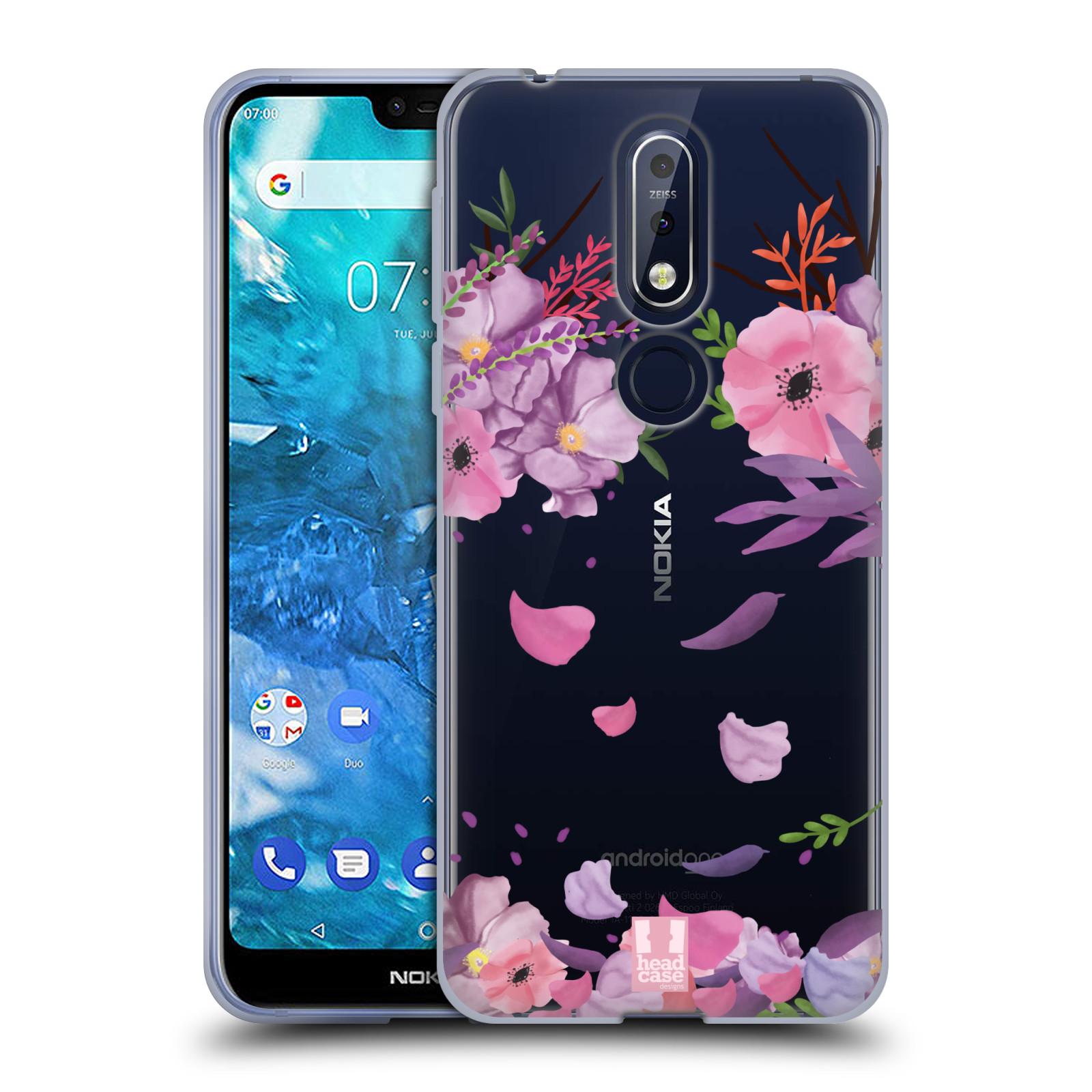 Silikonové pouzdro na mobil Nokia 7.1 - Head Case - Okvětní lístky