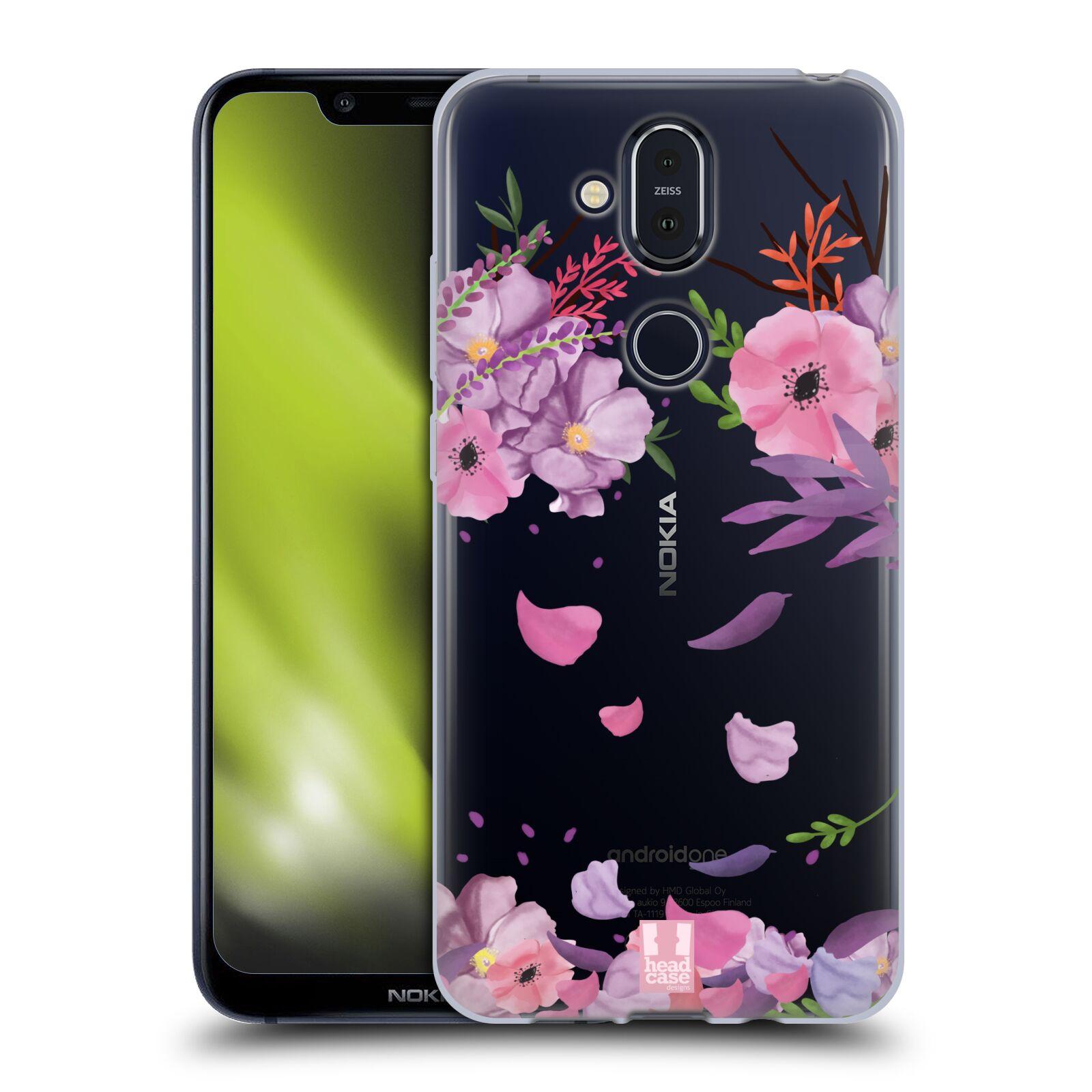 Silikonové pouzdro na mobil Nokia 8.1 - Head Case - Okvětní lístky