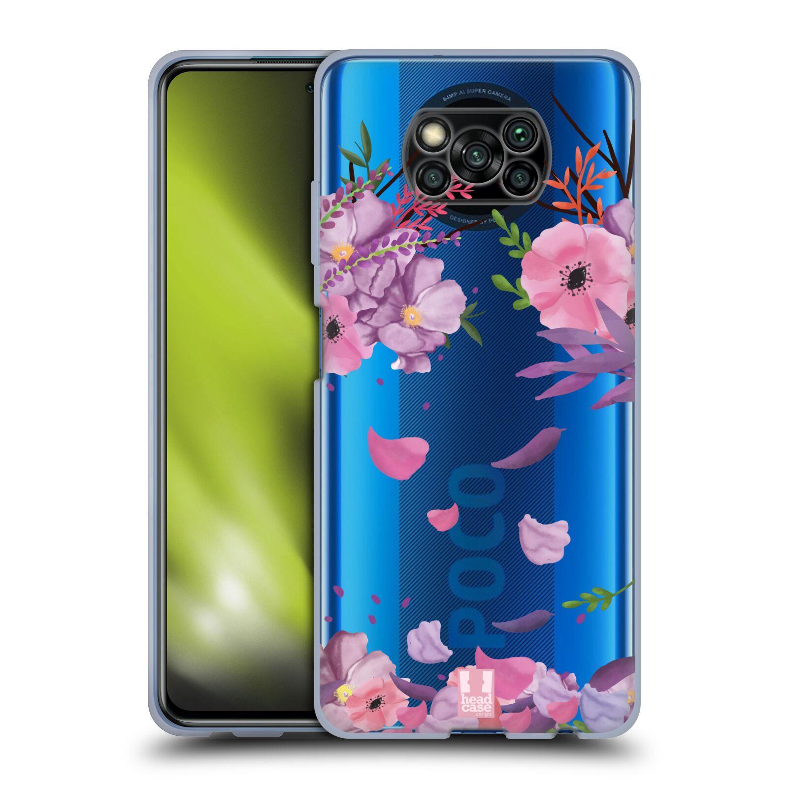 Silikonové pouzdro na mobil Xiaomi Poco X3 NFC - Head Case - Okvětní lístky