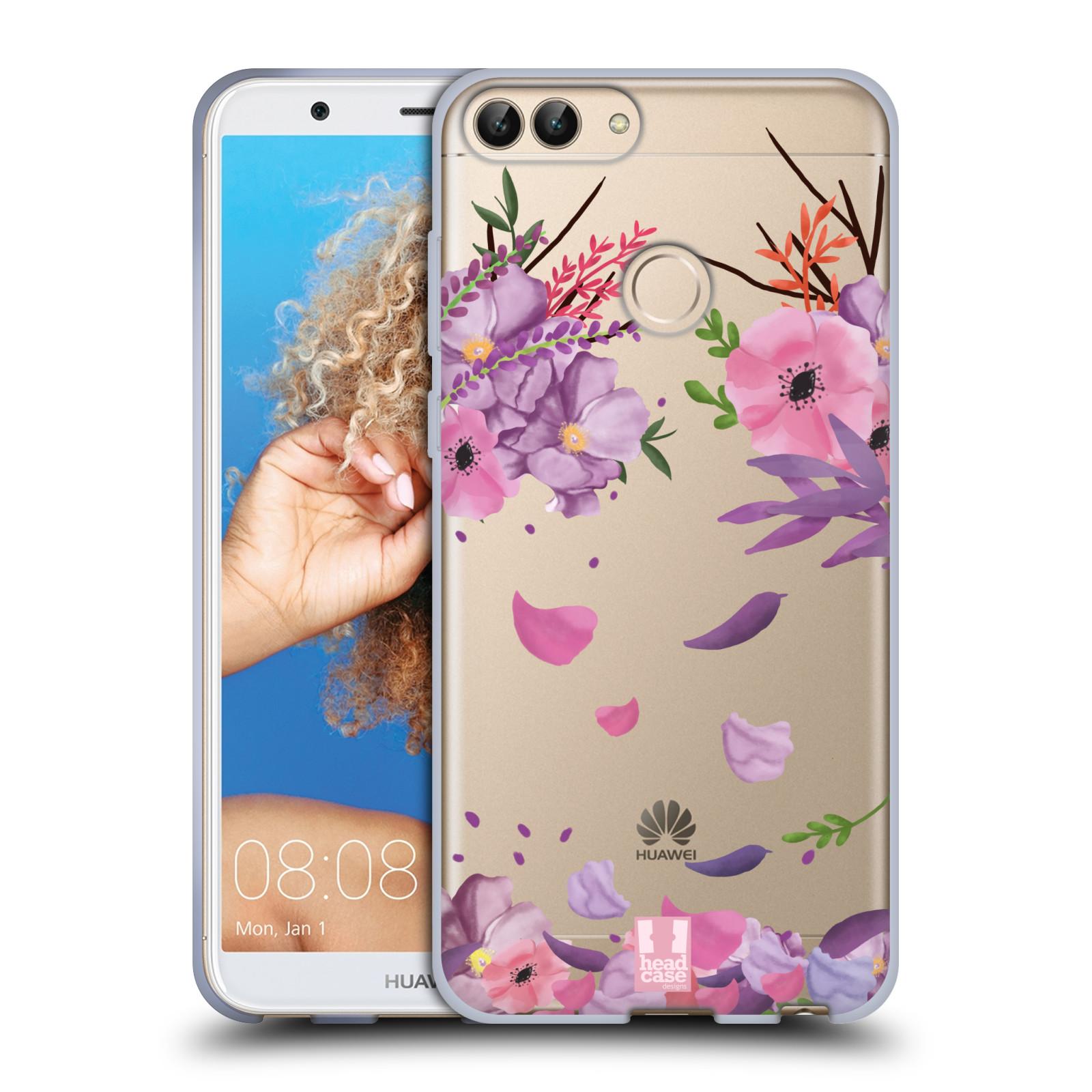 Silikonové pouzdro na mobil Huawei P Smart - Head Case - Okvětní lístky