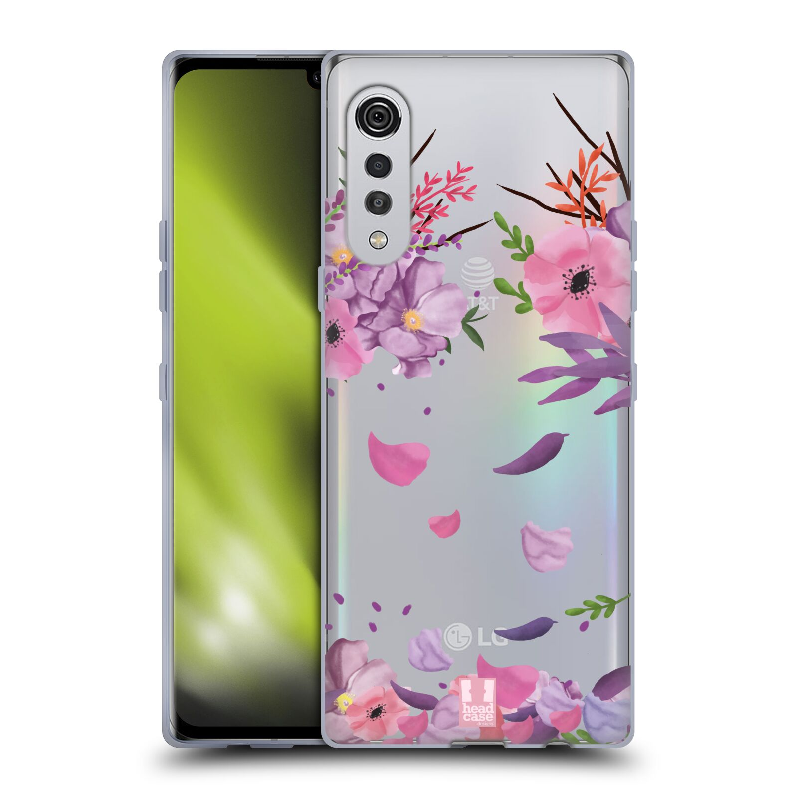 Silikonové pouzdro na mobil LG Velvet - Head Case - Okvětní lístky