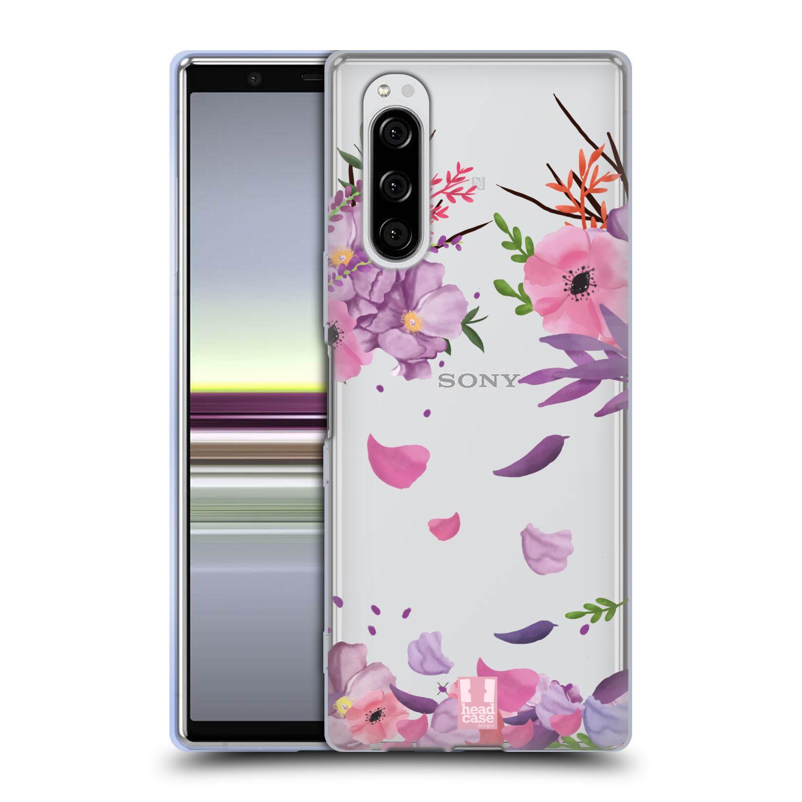 Silikonové pouzdro na mobil Sony Xperia 5 - Head Case - Okvětní lístky
