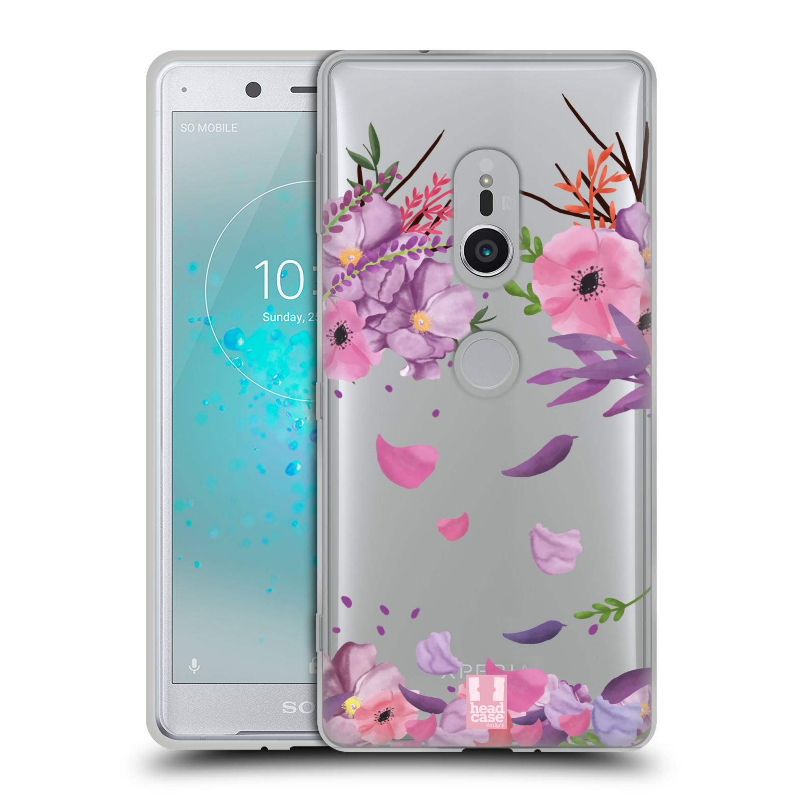 Silikonové pouzdro na mobil Sony Xperia XZ2 - Head Case - Okvětní lístky