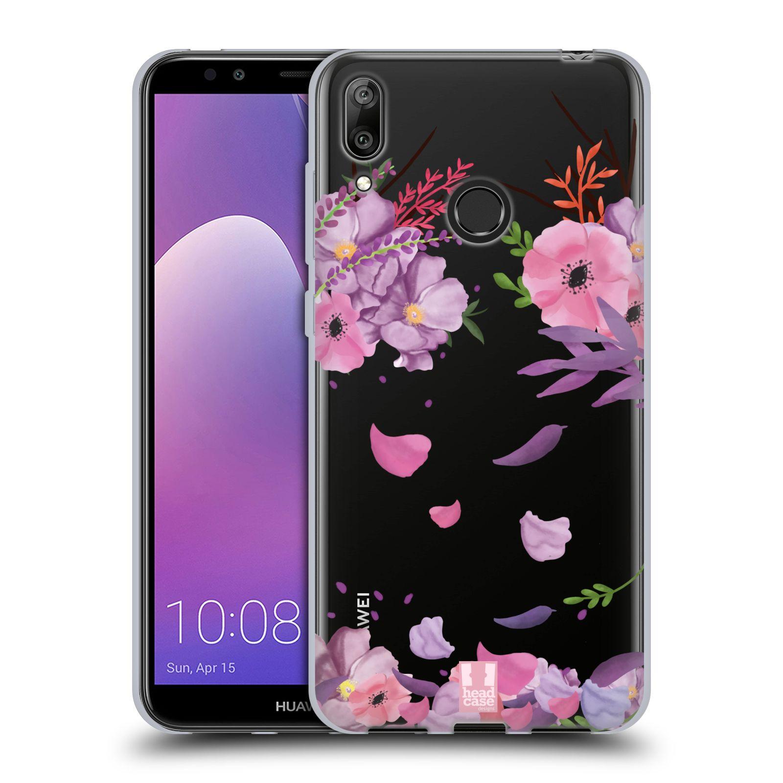 Silikonové pouzdro na mobil Huawei Y7 (2019) - Head Case - Okvětní lístky