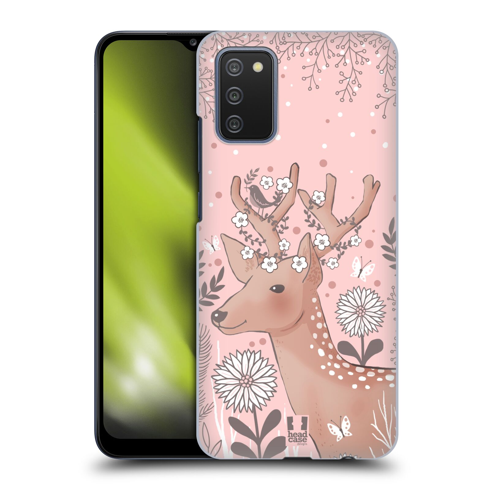 Plastové pouzdro na mobil Samsung Galaxy A02s - Head Case - Jelíneček
