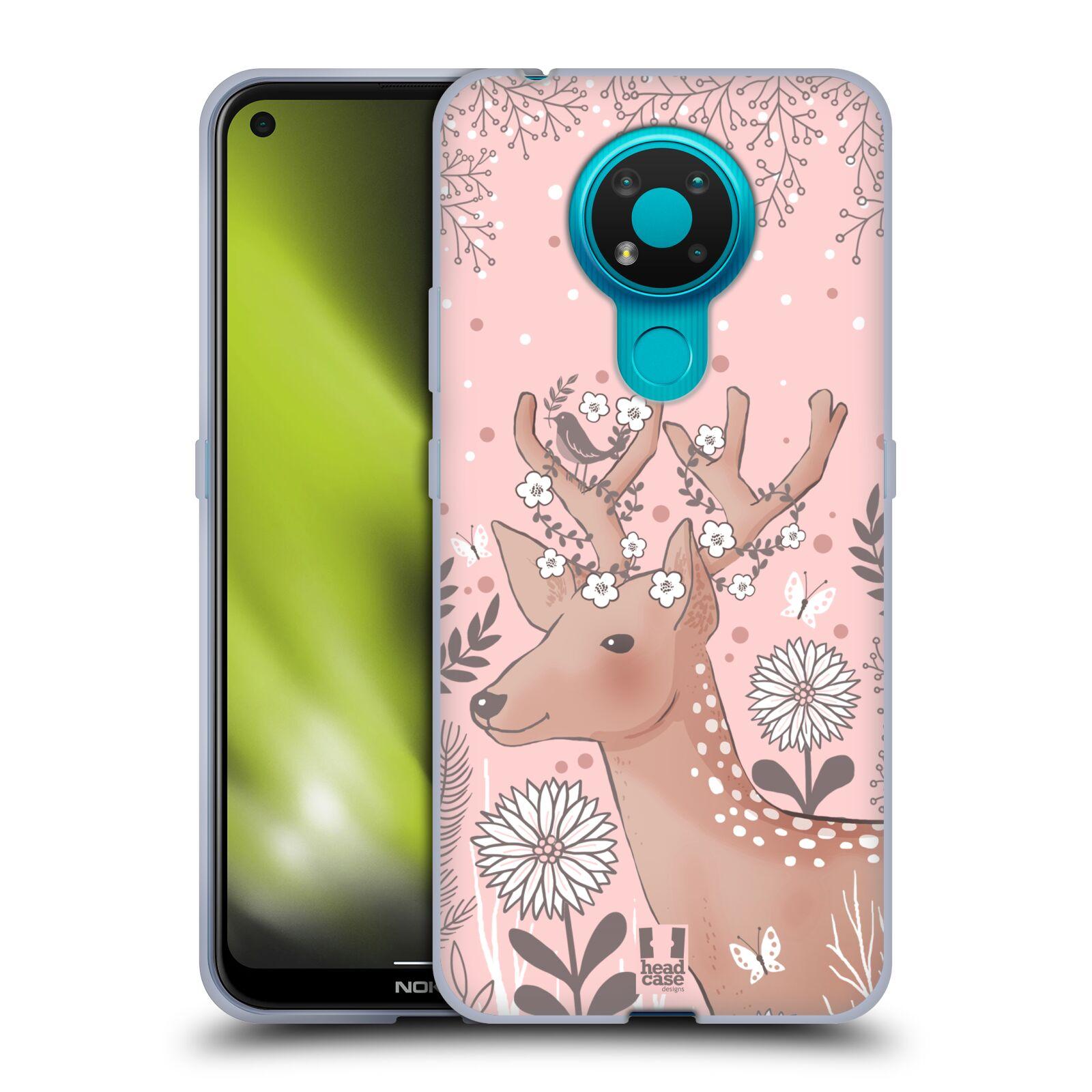 Silikonové pouzdro na mobil Nokia 3.4 - Head Case - Jelíneček