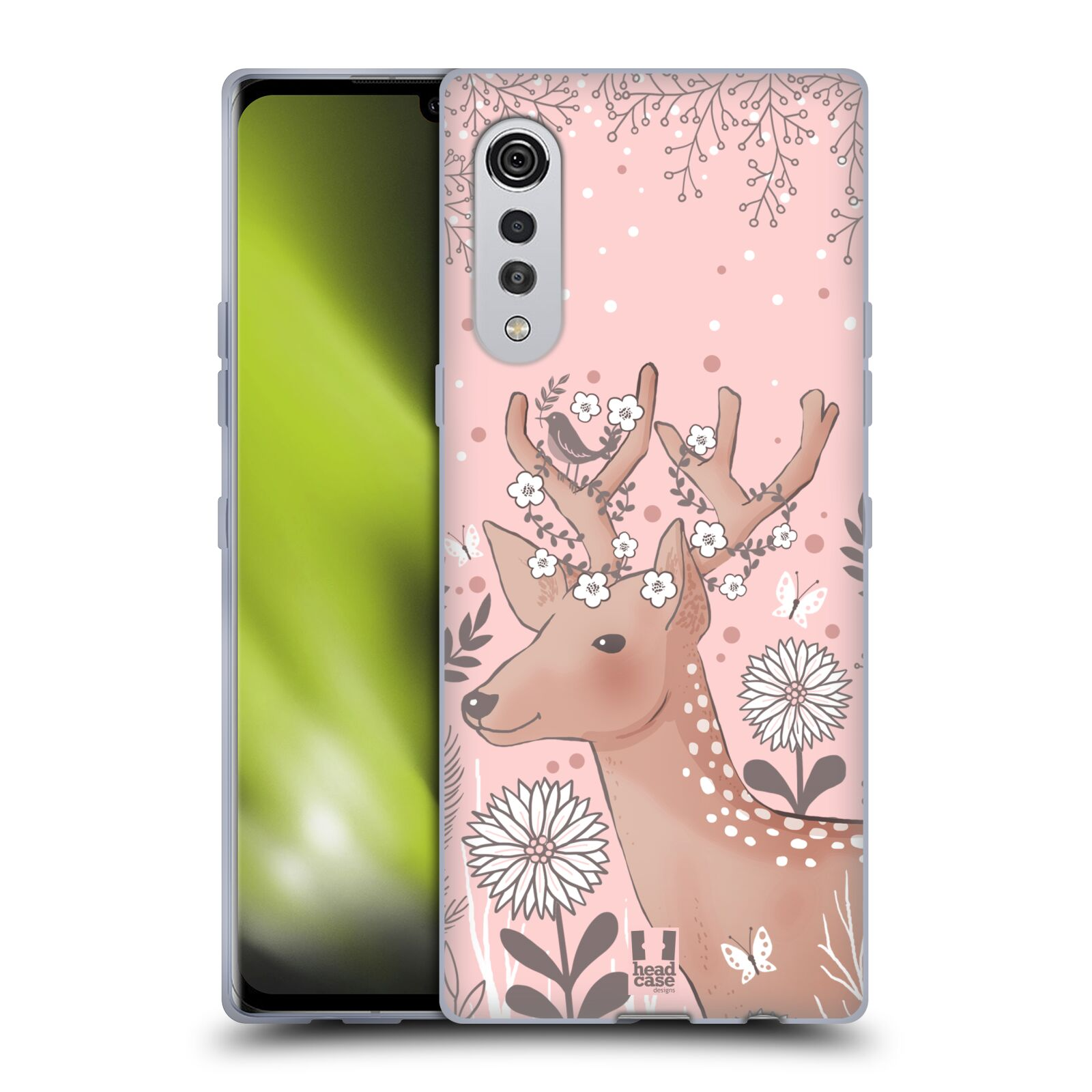 Silikonové pouzdro na mobil LG Velvet - Head Case - Jelíneček