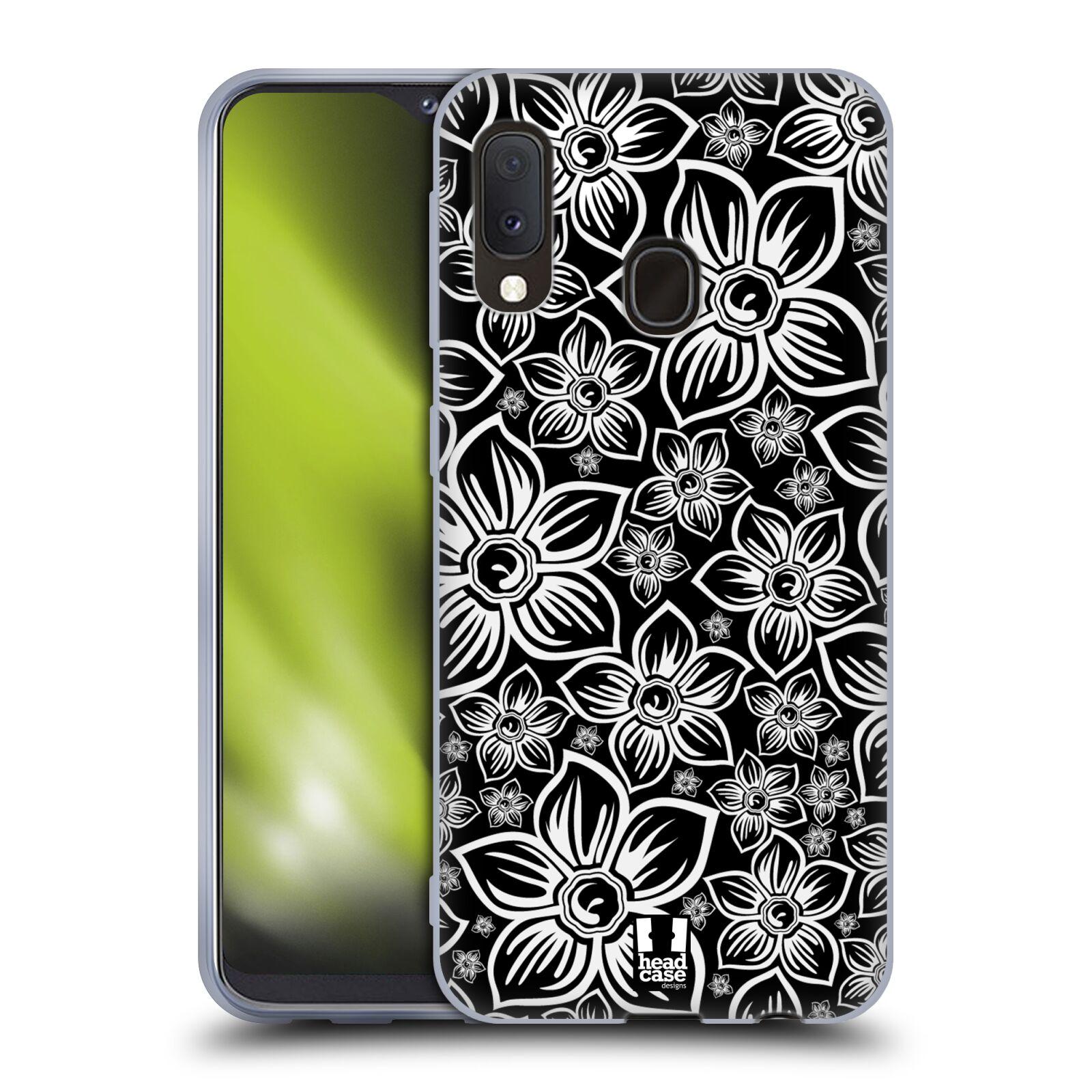 Silikonové pouzdro na mobil Samsung Galaxy A20e - Head Case - FLORAL DAISY