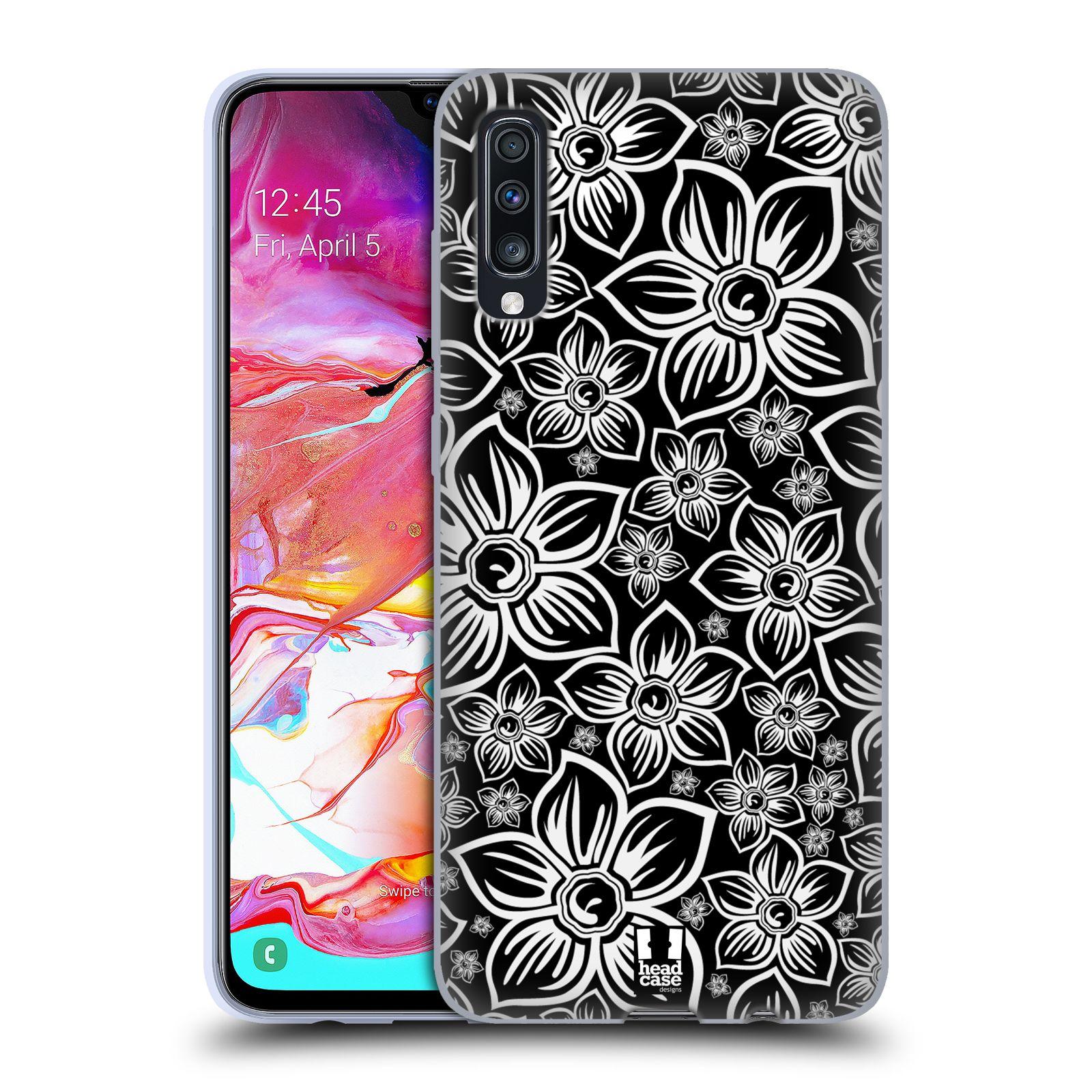 Silikonové pouzdro na mobil Samsung Galaxy A70 - Head Case - FLORAL DAISY