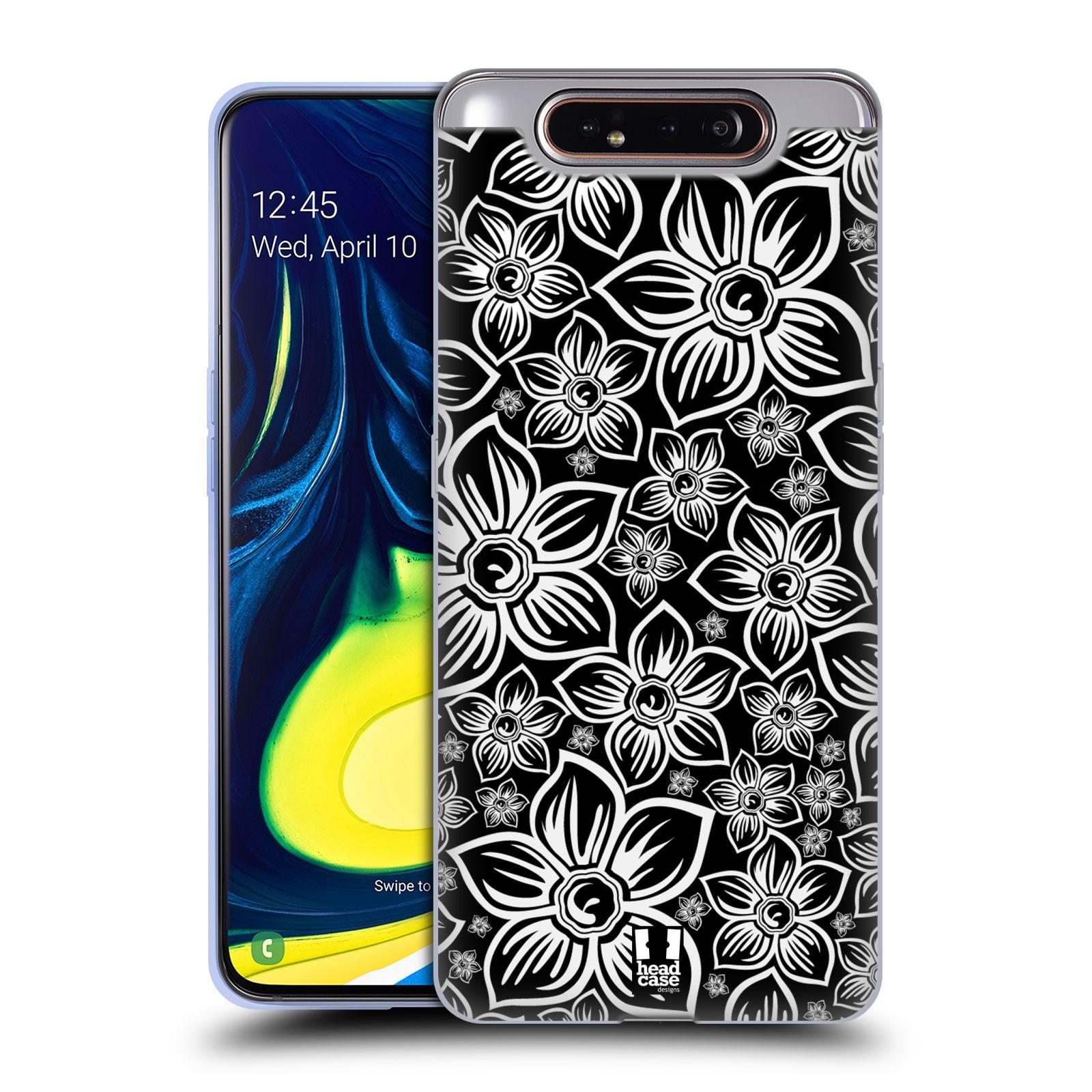 Silikonové pouzdro na mobil Samsung Galaxy A80 - Head Case - FLORAL DAISY