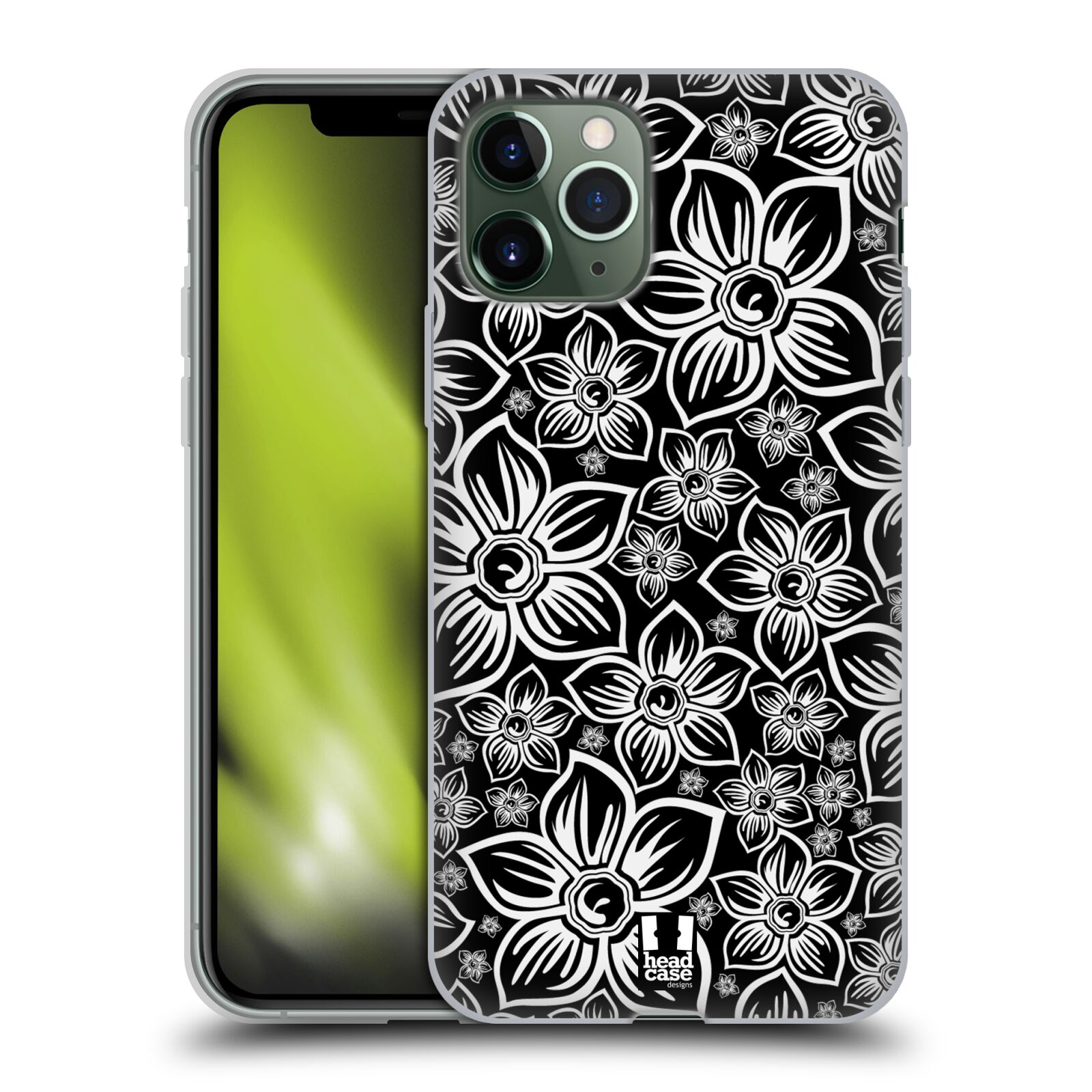 apple king | Silikonové pouzdro na mobil Apple iPhone 11 Pro - Head Case - FLORAL DAISY