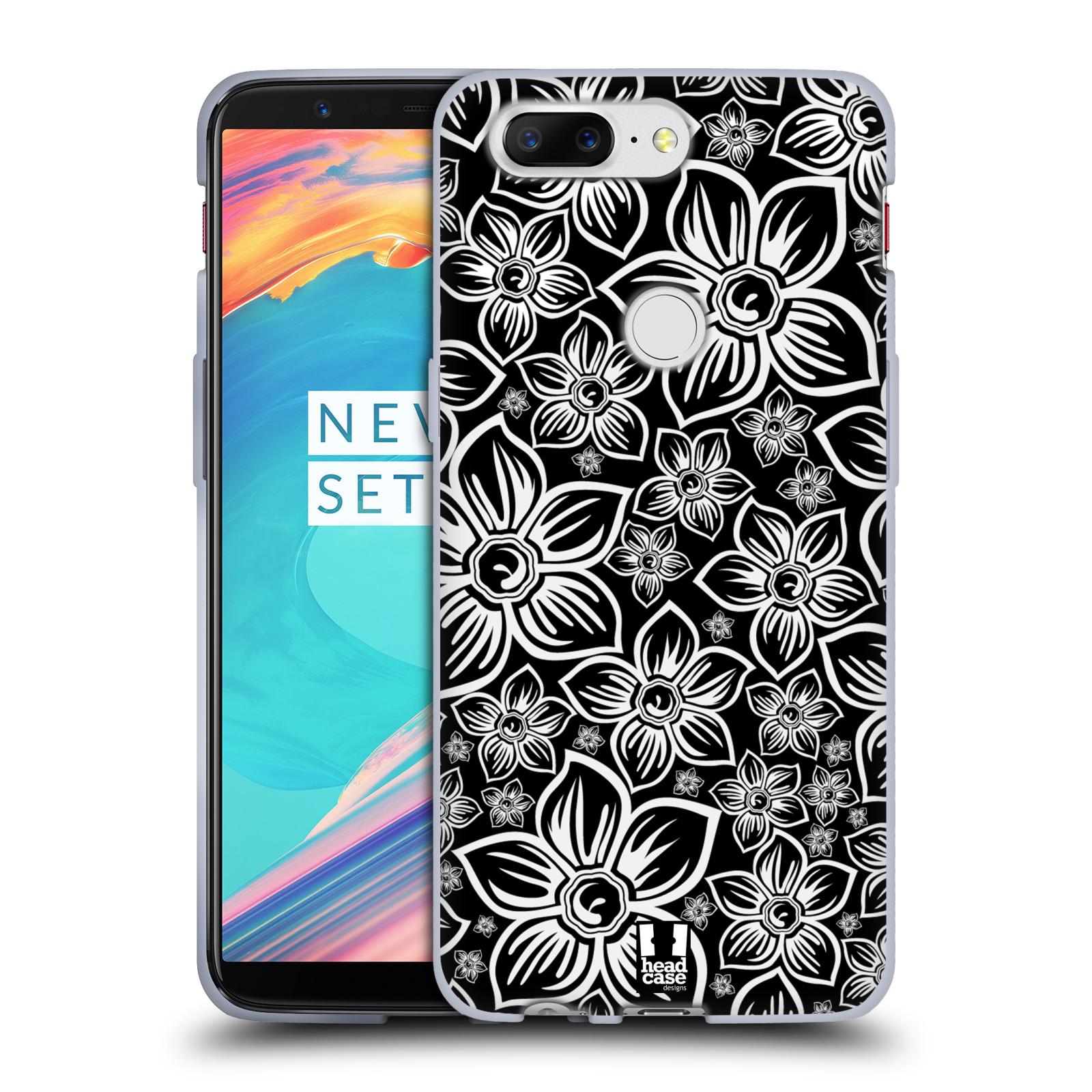 Silikonové pouzdro na mobil OnePlus 5T - Head Case - FLORAL DAISY