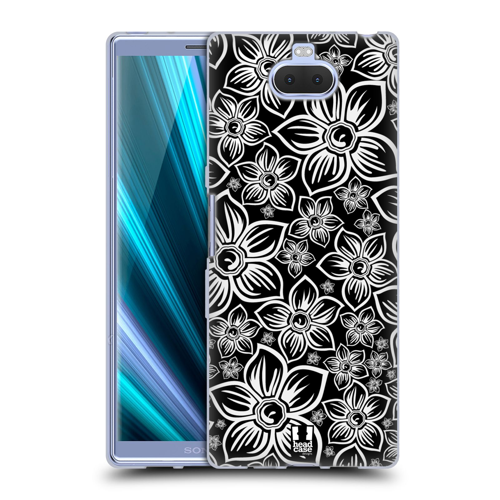 Silikonové pouzdro na mobil Sony Xperia 10 Plus - Head Case - FLORAL DAISY
