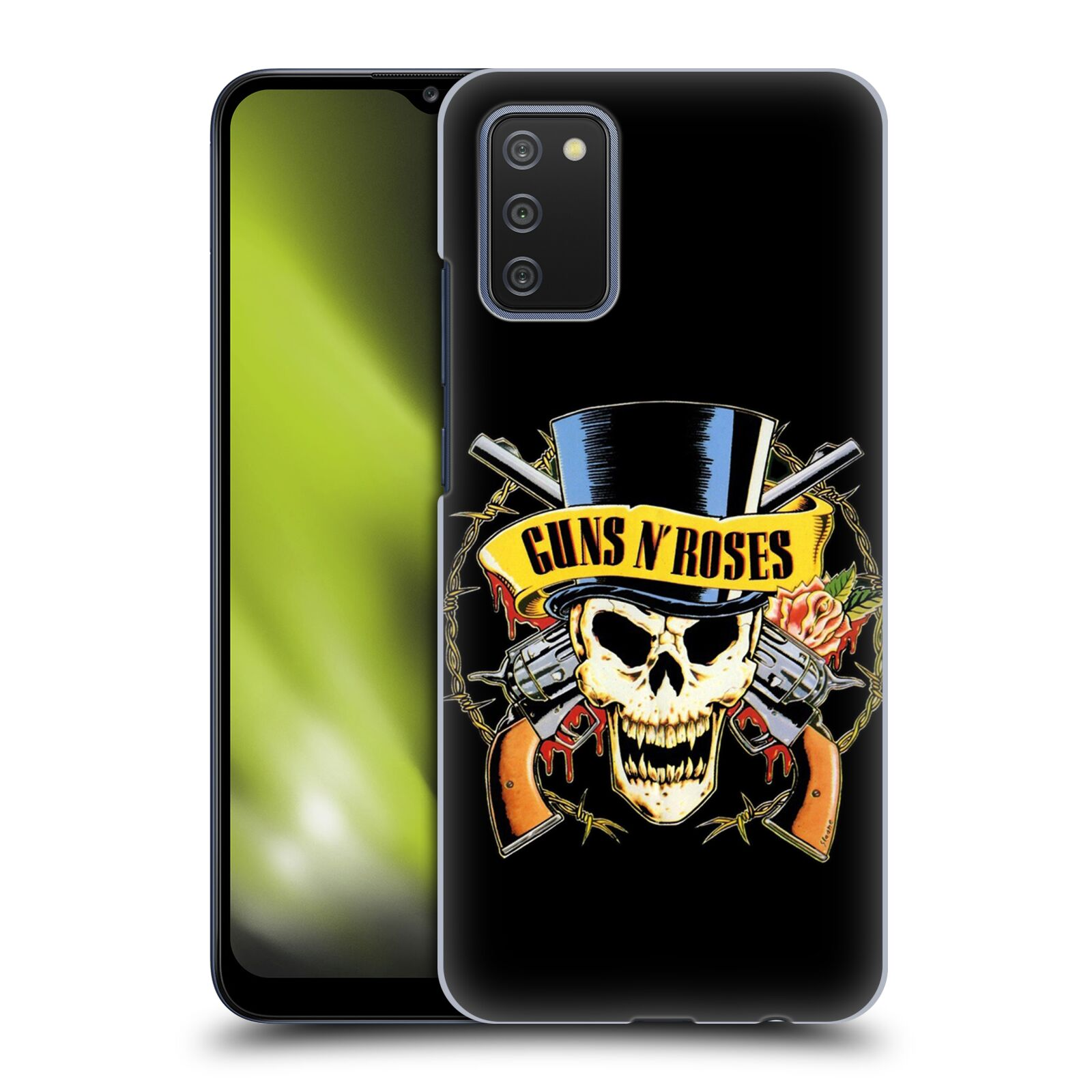 Plastové pouzdro na mobil Samsung Galaxy A02s - Head Case - Guns N' Roses - Lebka