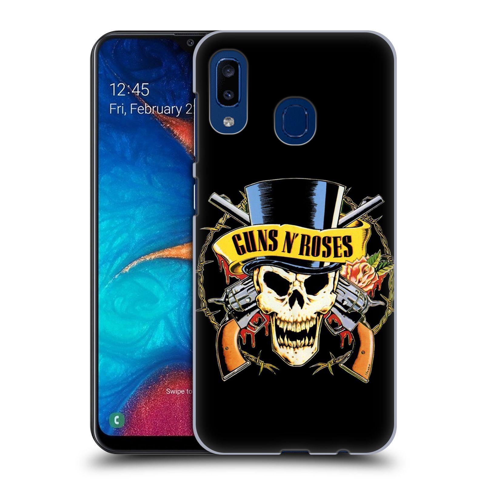 Plastové pouzdro na mobil Samsung Galaxy A20 - Head Case - Guns N' Roses - Lebka