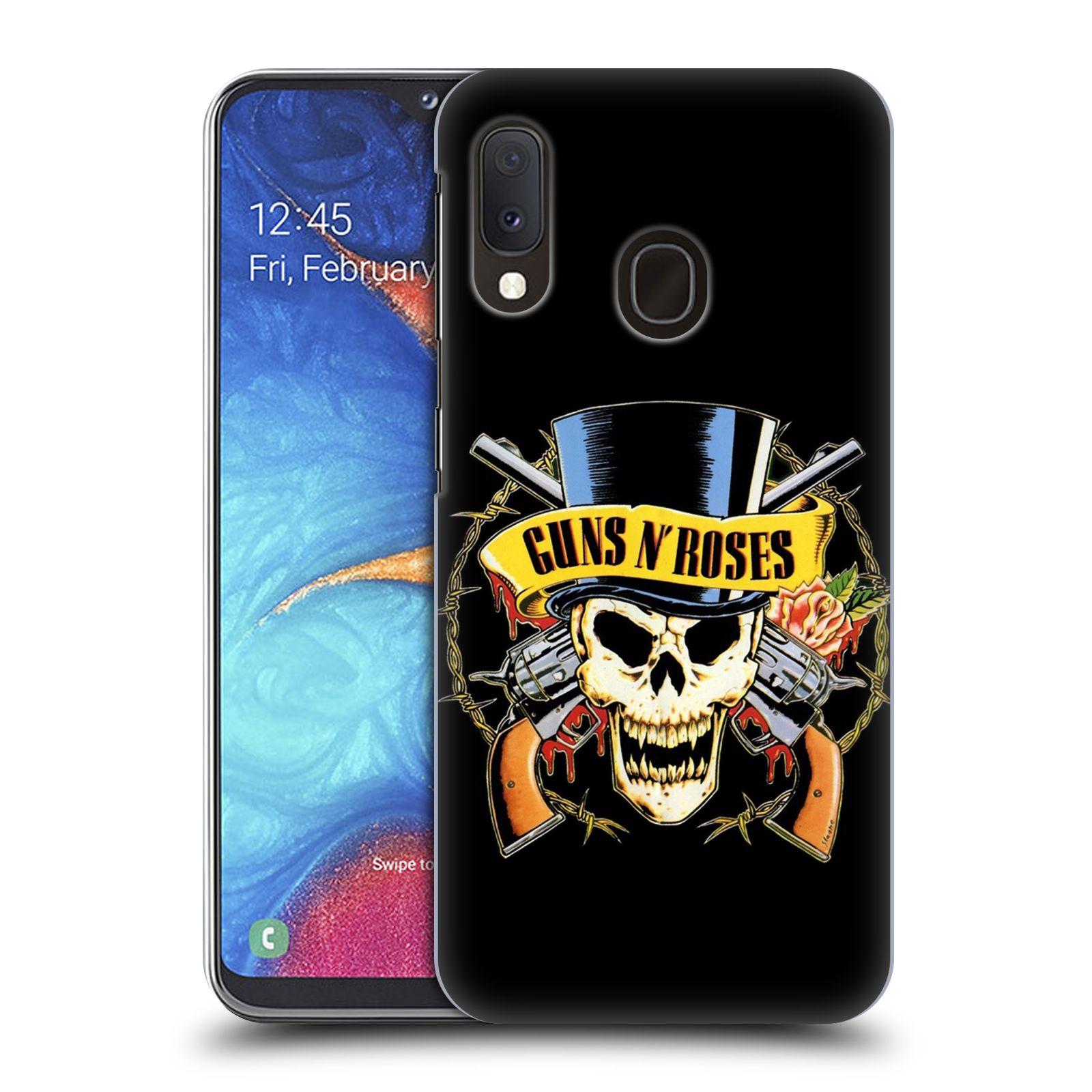 Plastové pouzdro na mobil Samsung Galaxy A20e - Head Case - Guns N' Roses - Lebka