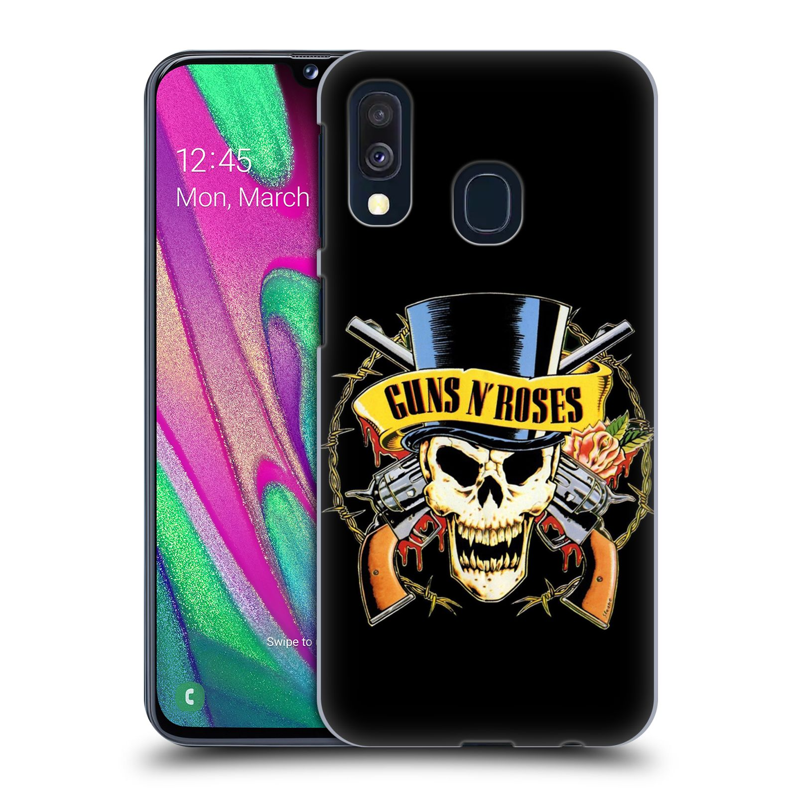 Plastové pouzdro na mobil Samsung Galaxy A40 - Head Case - Guns N' Roses - Lebka
