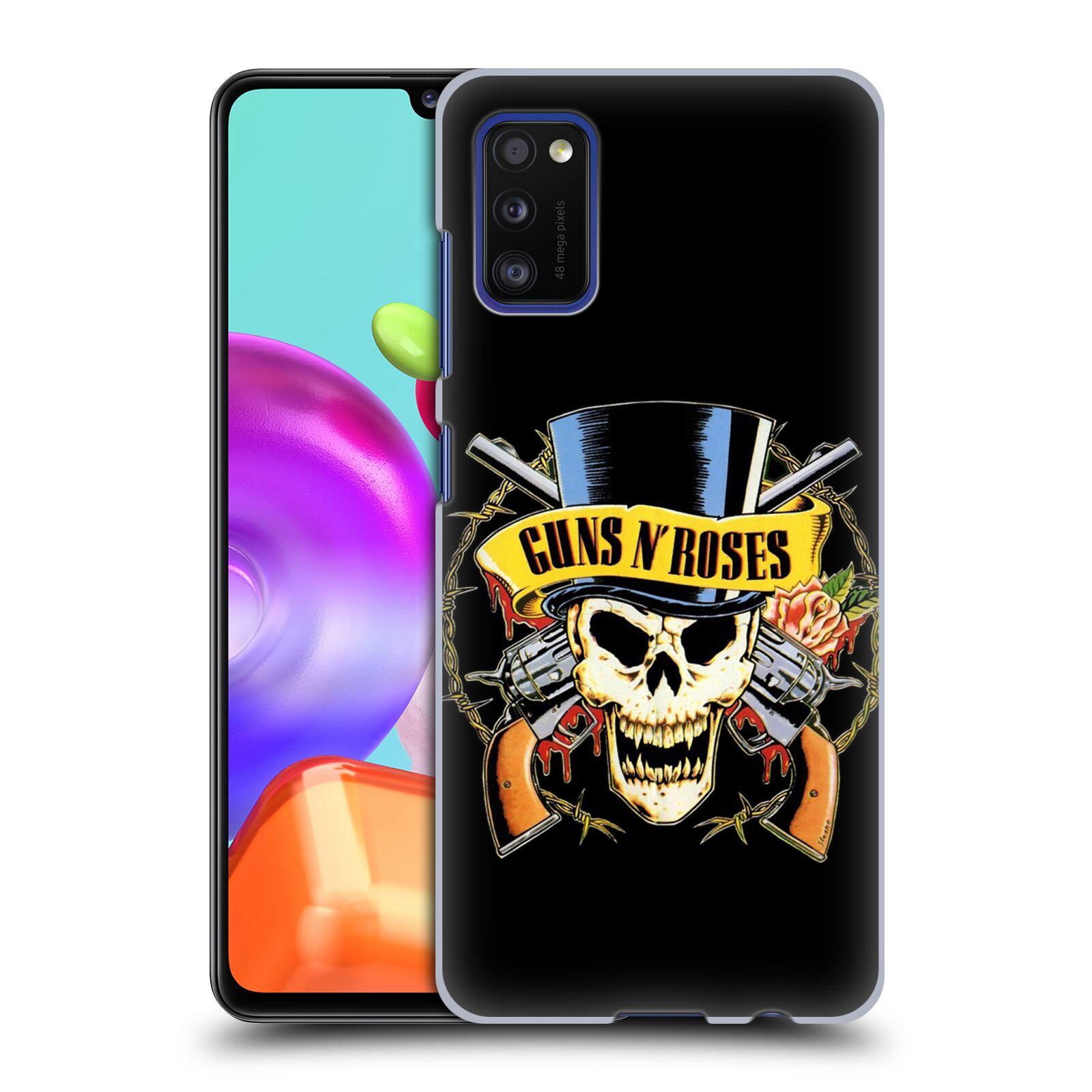 Plastové pouzdro na mobil Samsung Galaxy A41 - Head Case - Guns N' Roses - Lebka