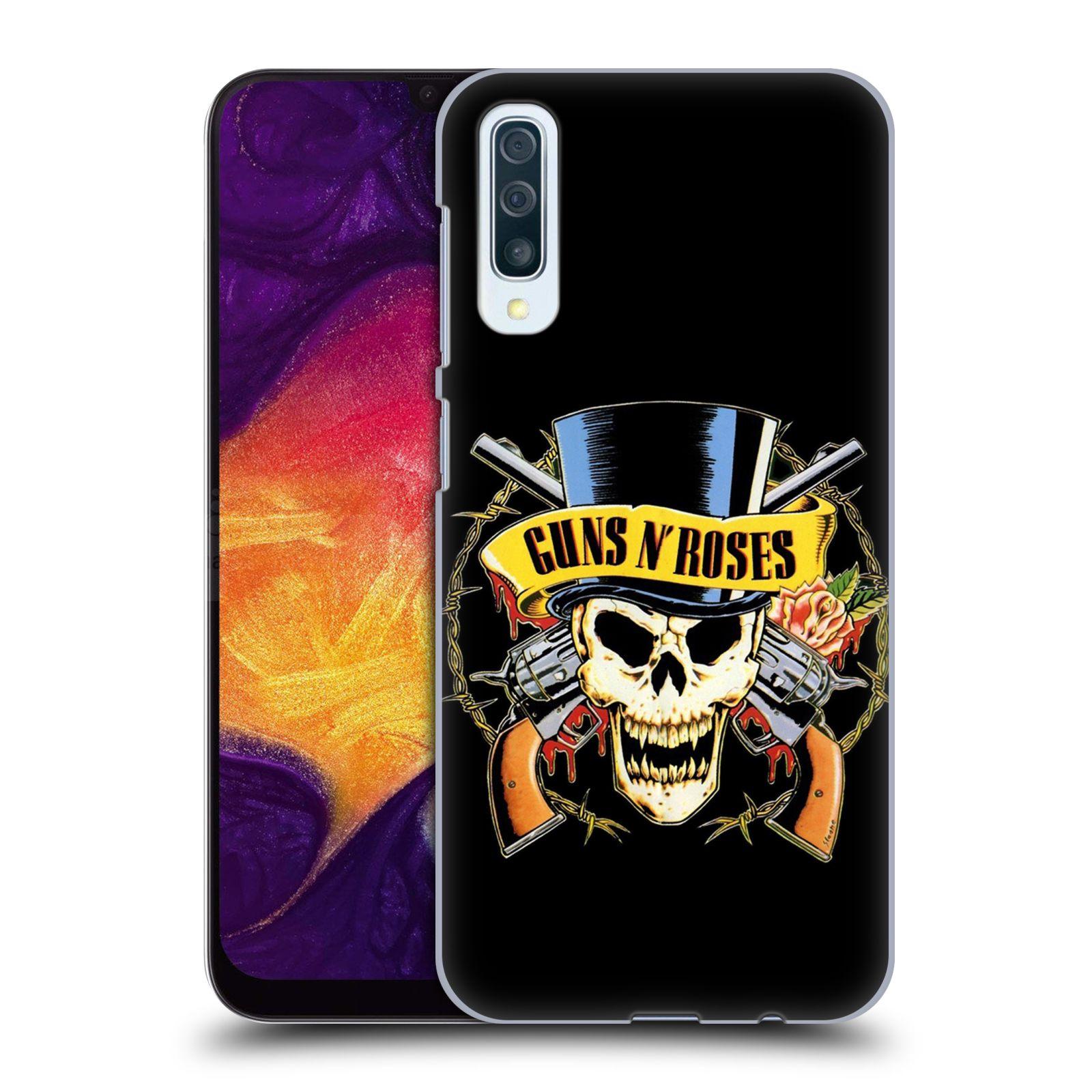 Plastové pouzdro na mobil Samsung Galaxy A50 - Head Case - Guns N' Roses - Lebka