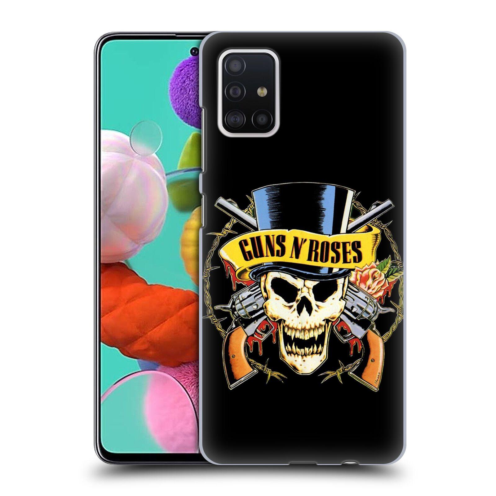 Plastové pouzdro na mobil Samsung Galaxy A51 - Head Case - Guns N' Roses - Lebka