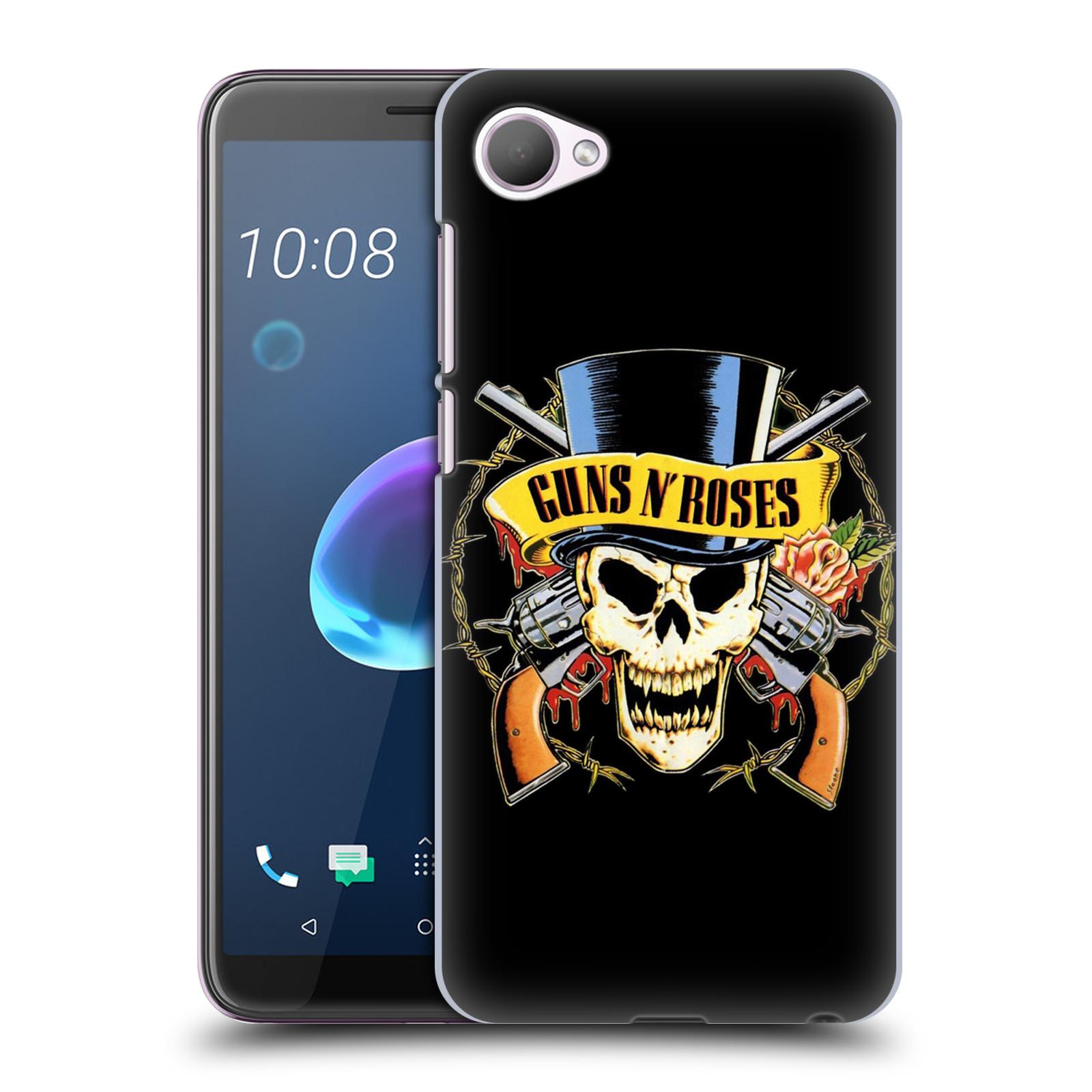 Plastové pouzdro na mobil HTC Desire 12 - Head Case - Guns N' Roses - Lebka