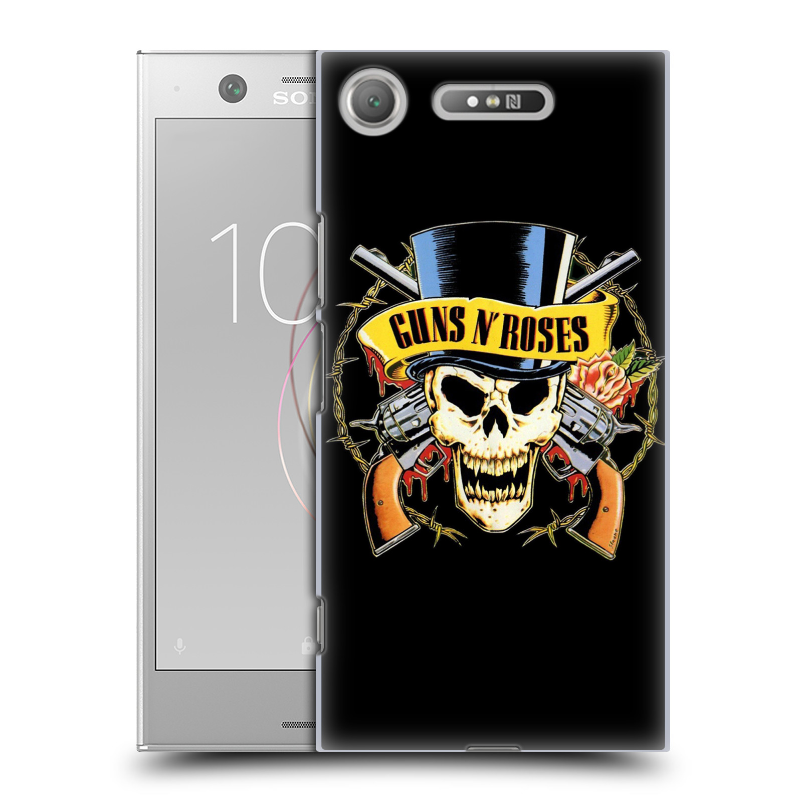 Plastové pouzdro na mobil Sony Xperia XZ1 - Head Case - Guns N' Roses - Lebka
