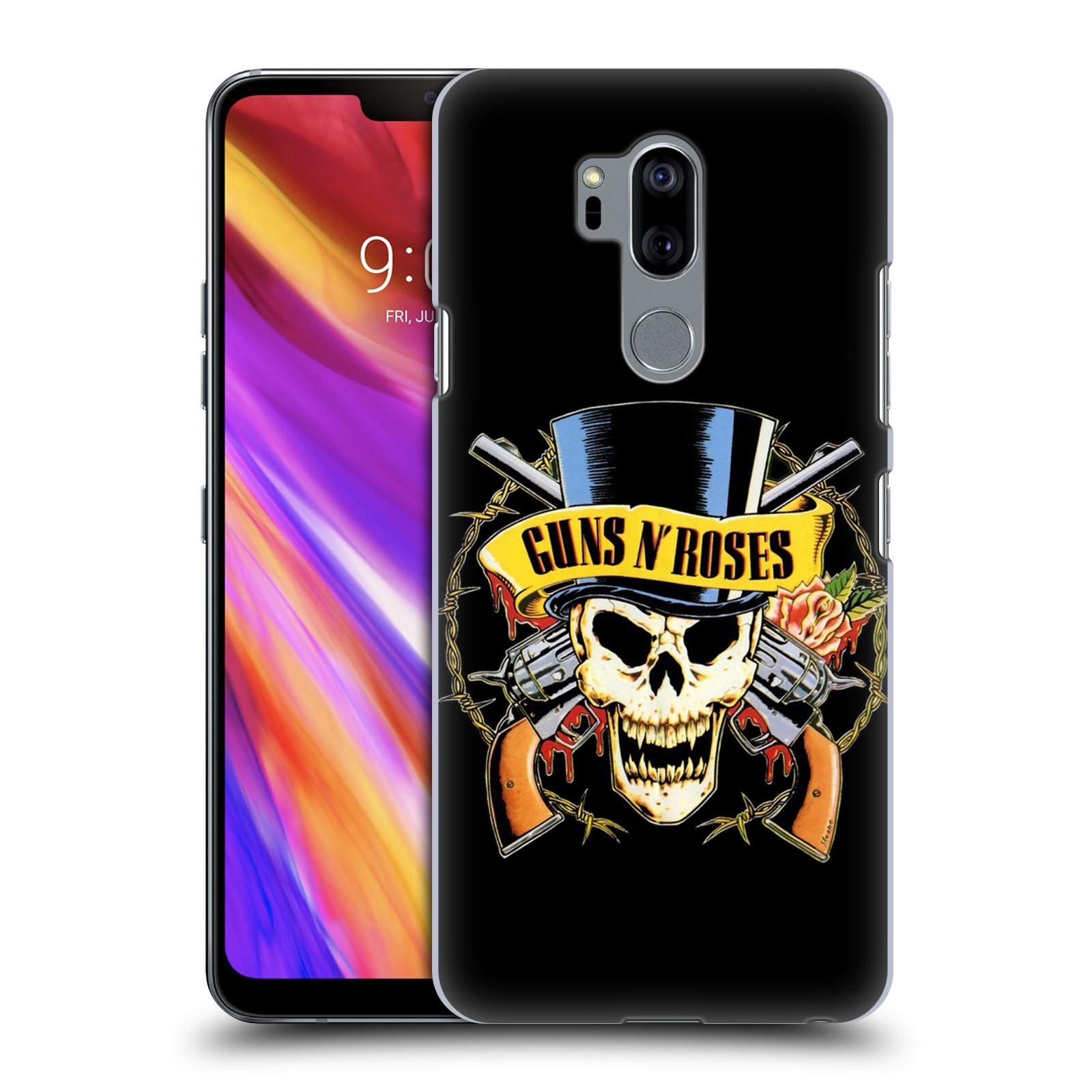 Plastové pouzdro na mobil LG G7 ThinQ - Head Case - Guns N' Roses - Lebka