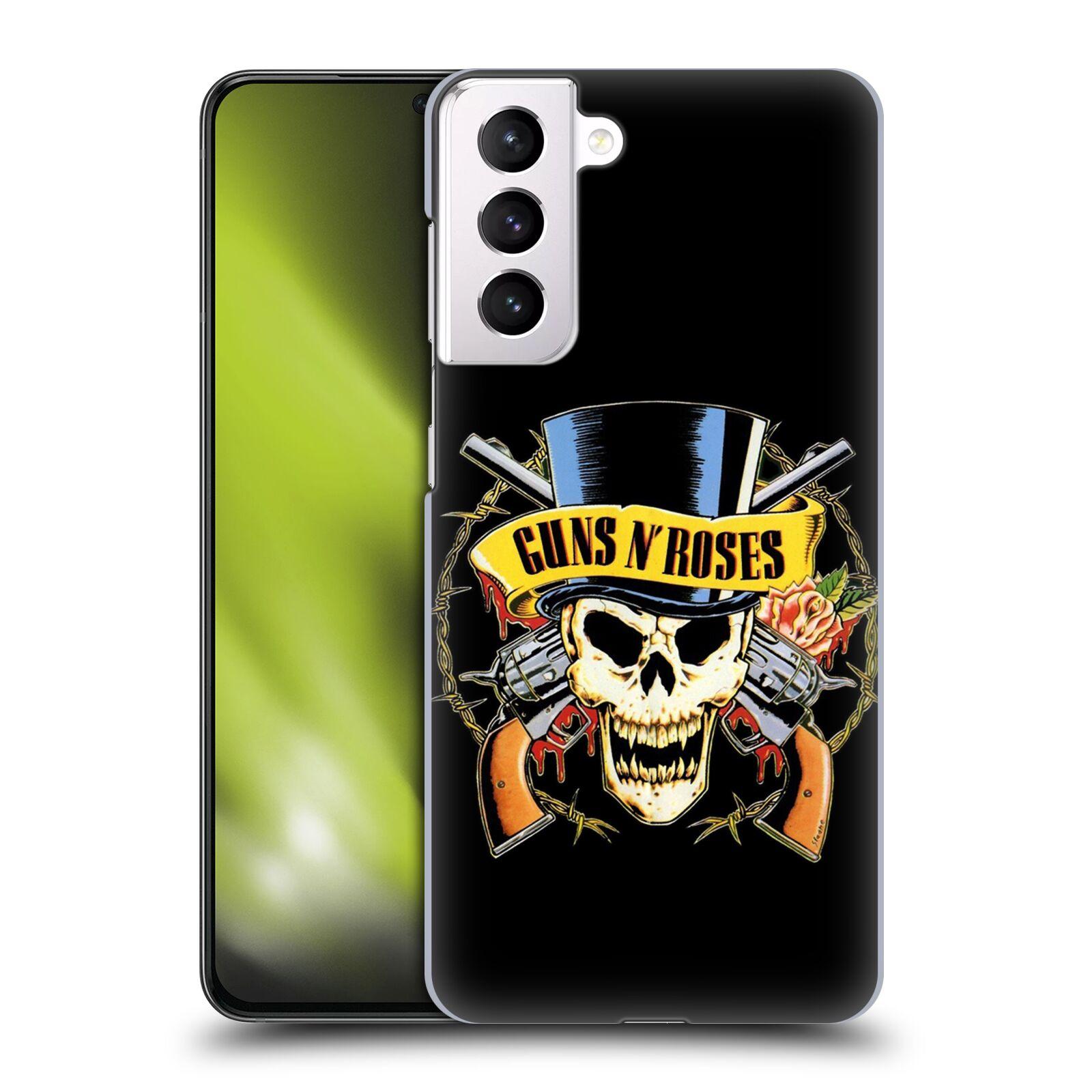 Plastové pouzdro na mobil Samsung Galaxy S21 Plus 5G - Head Case - Guns N' Roses - Lebka