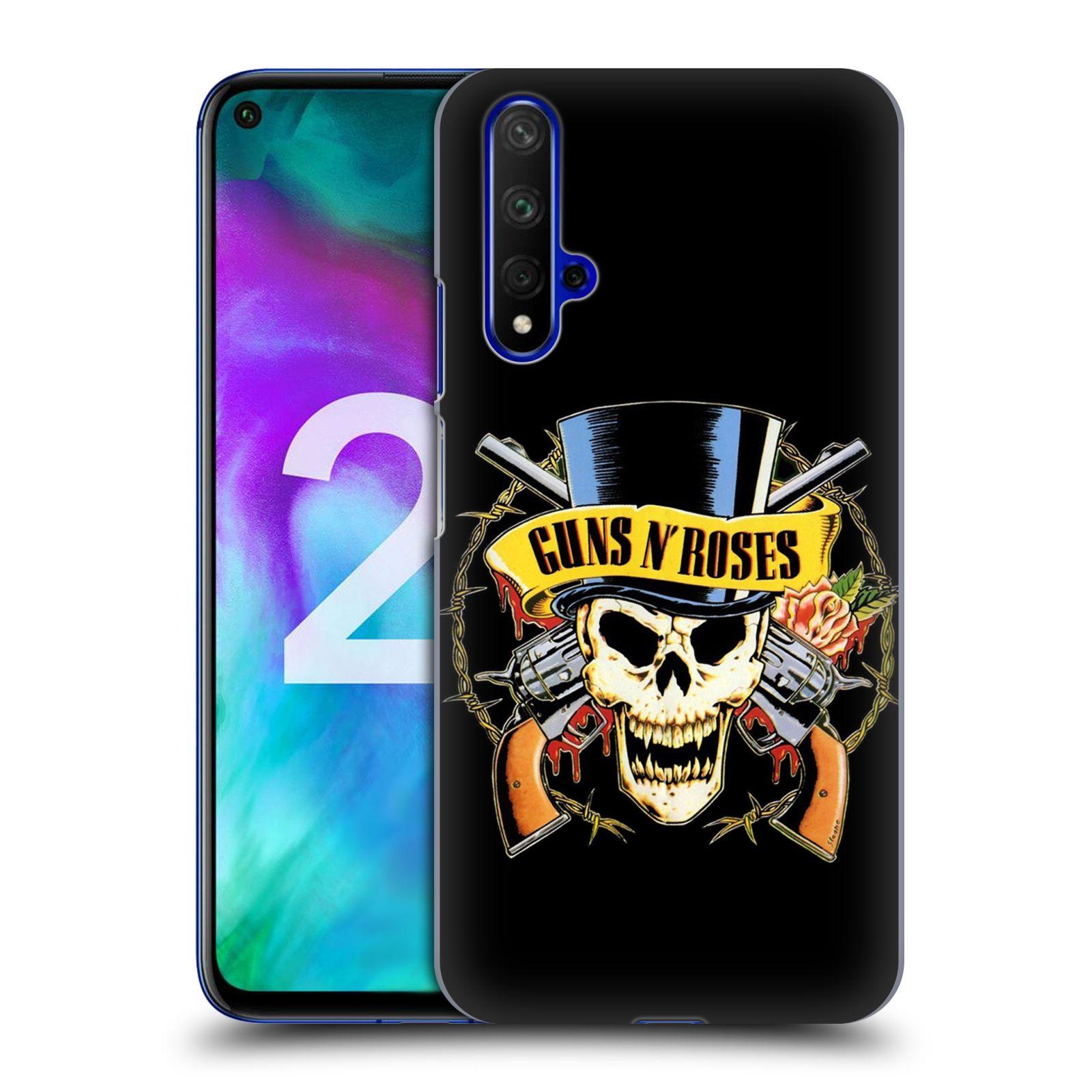 Plastové pouzdro na mobil Honor 20 - Head Case - Guns N' Roses - Lebka