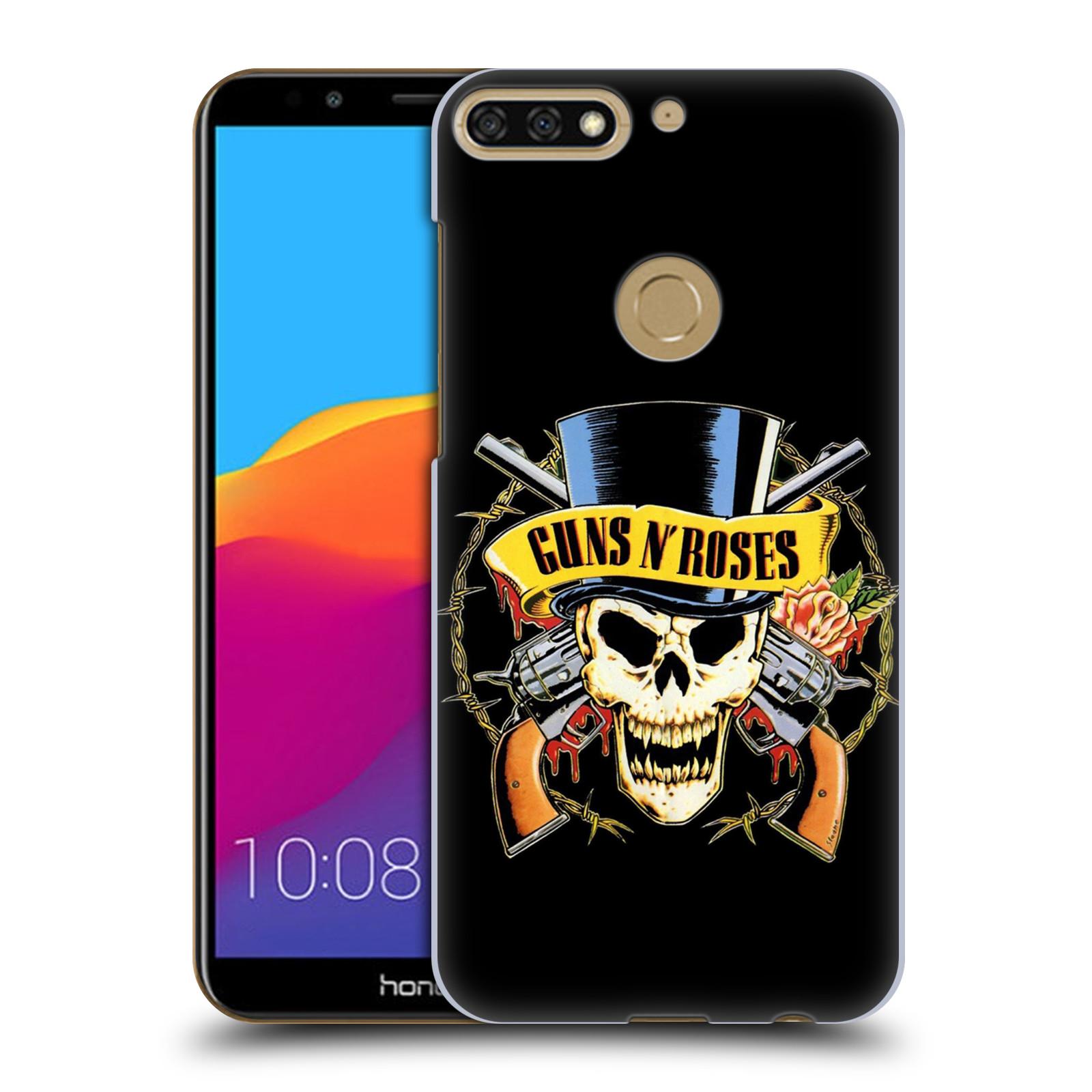 Plastové pouzdro na mobil Huawei Y7 Prime 2018 - Head Case - Guns N' Roses - Lebka