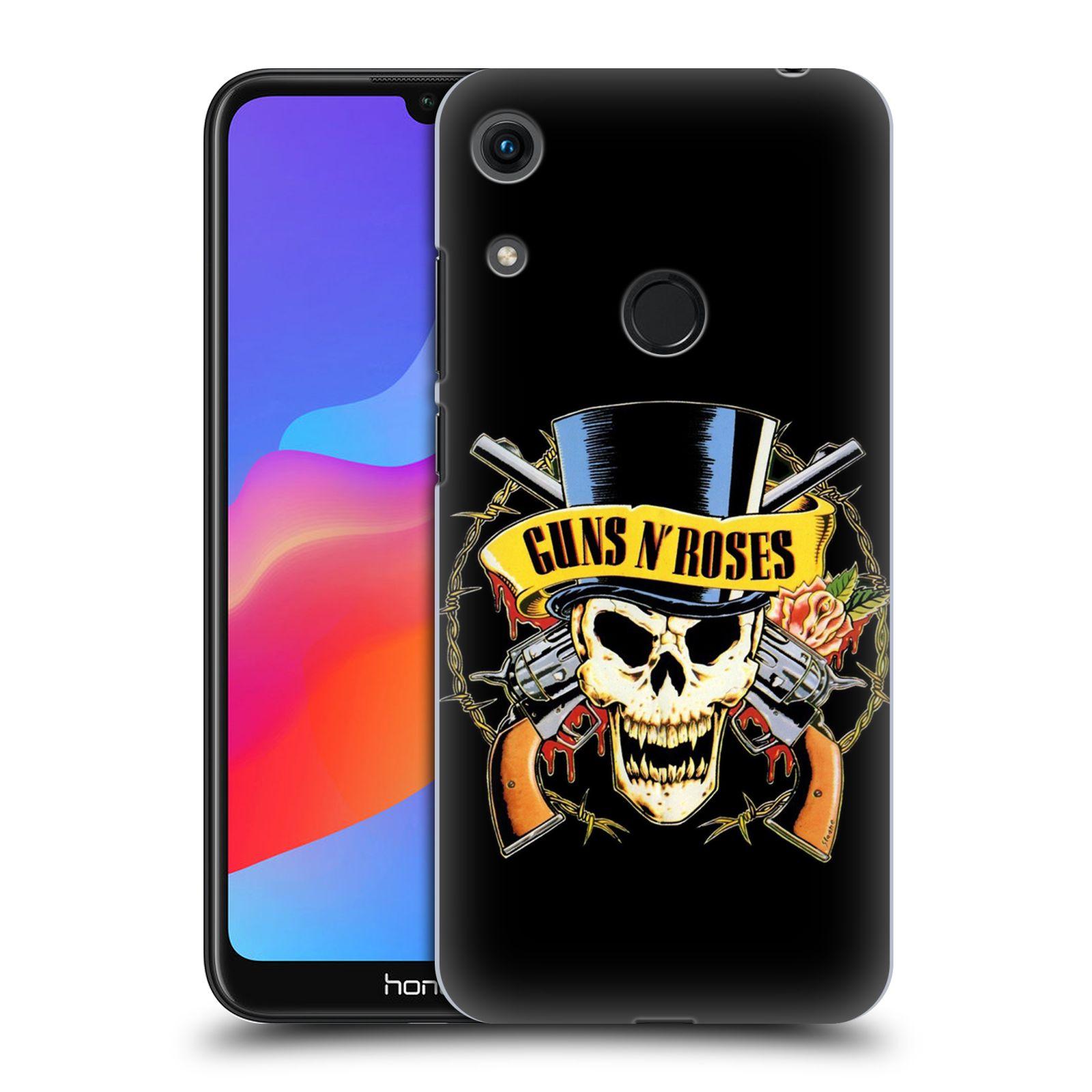 Plastové pouzdro na mobil Honor 8A - Head Case - Guns N' Roses - Lebka