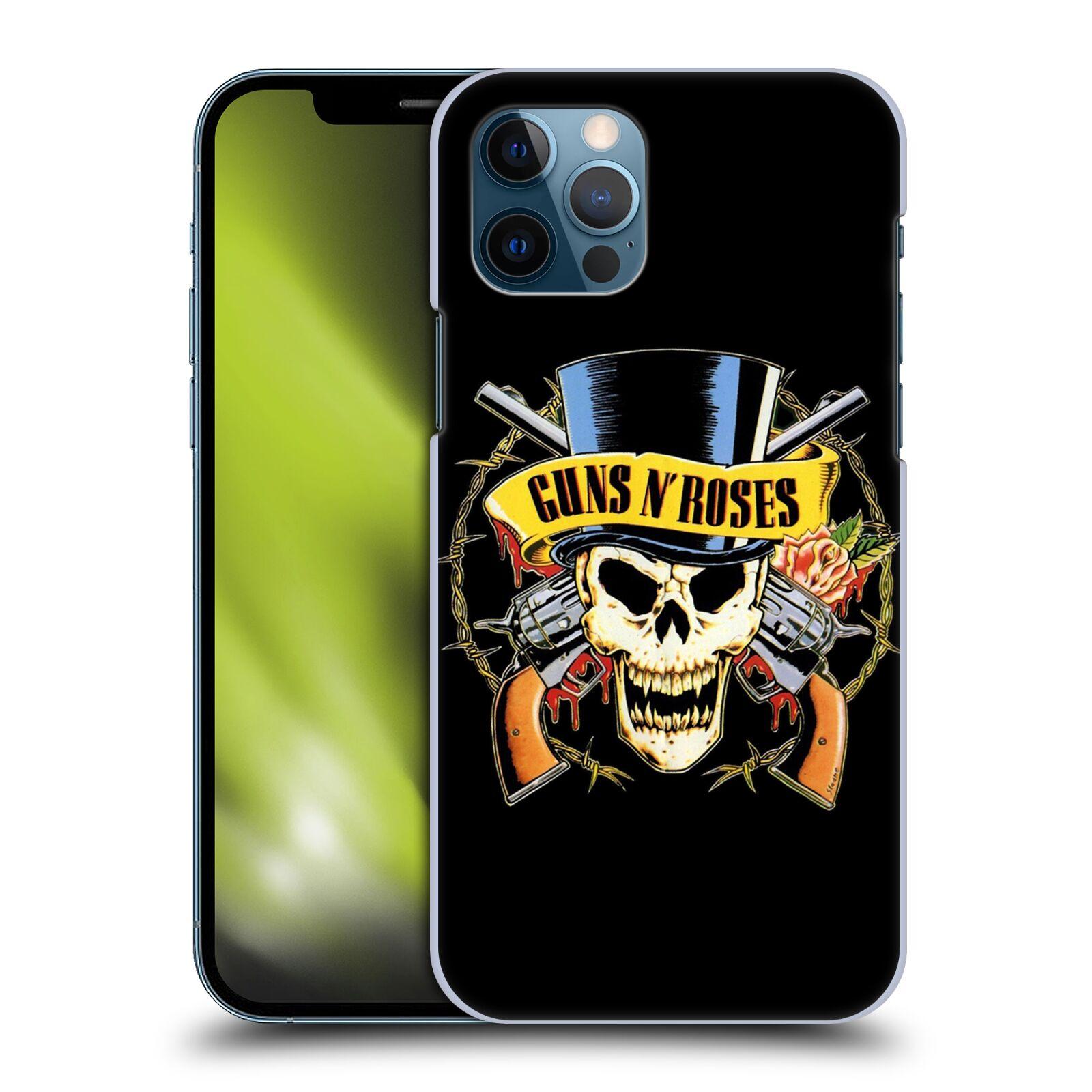 Plastové pouzdro na mobil Apple iPhone 12 / 12 Pro - Head Case - Guns N' Roses - Lebka