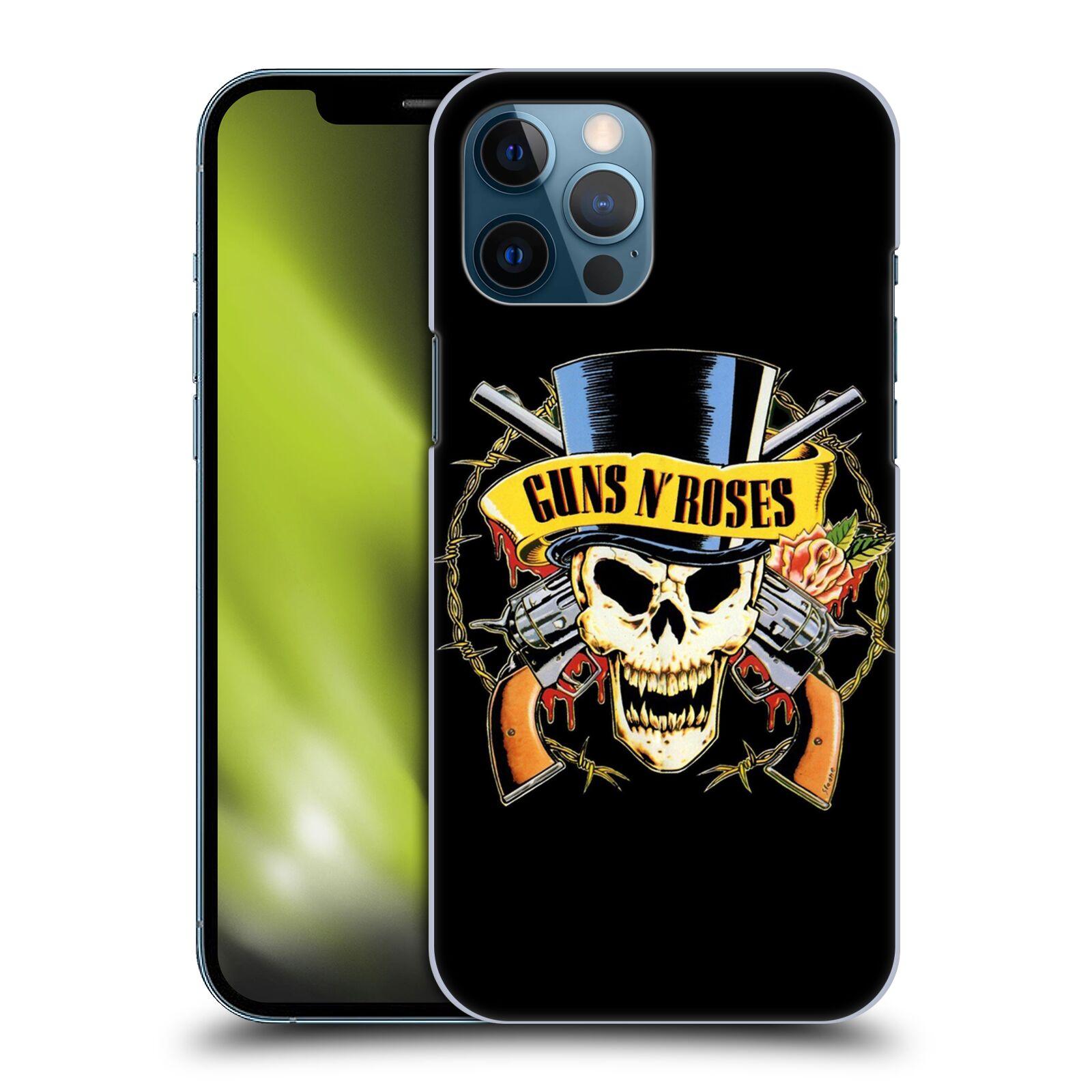 Plastové pouzdro na mobil Apple iPhone 12 Pro Max - Head Case - Guns N' Roses - Lebka