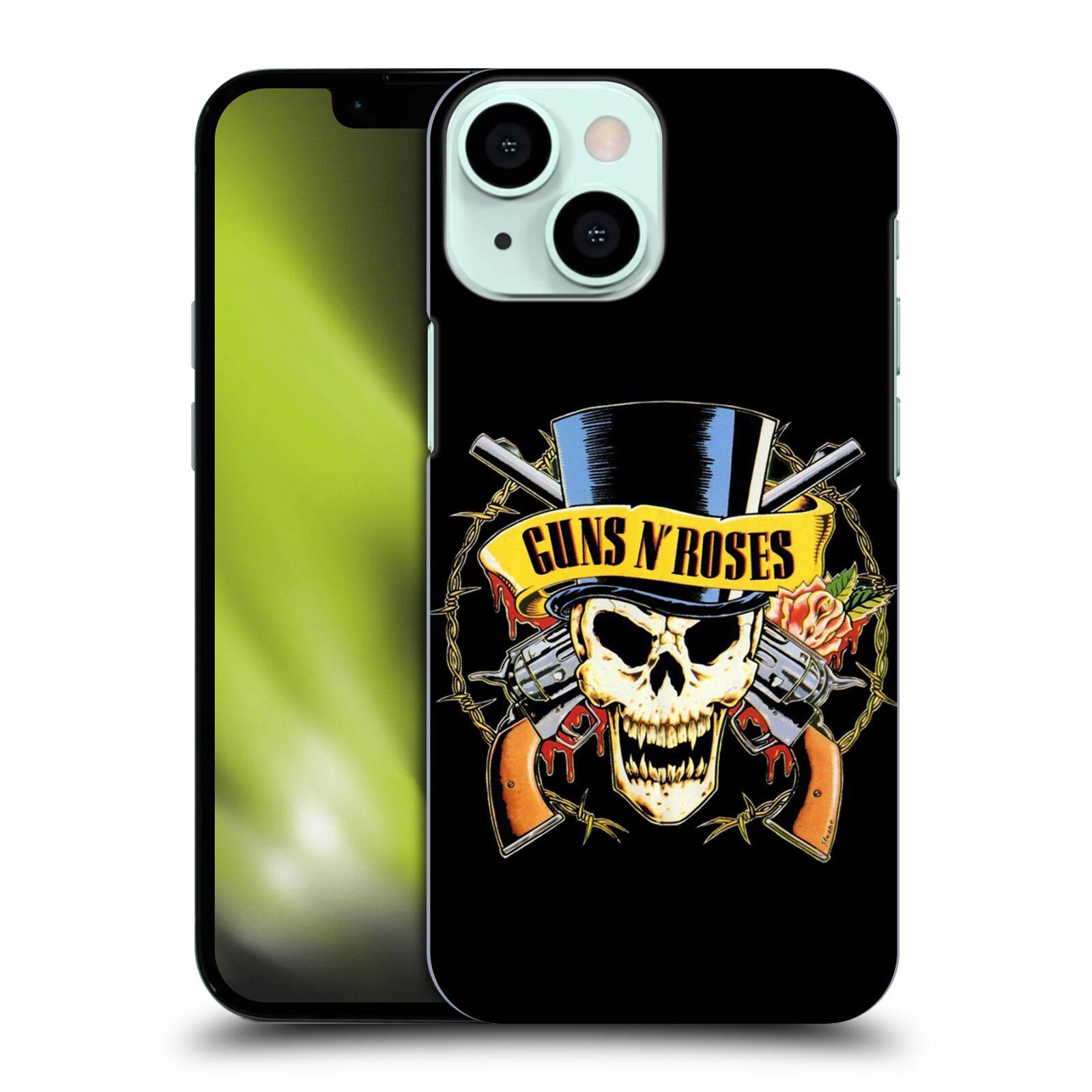 Plastové pouzdro na mobil Apple iPhone 13 Mini - Head Case - Guns N' Roses - Lebka