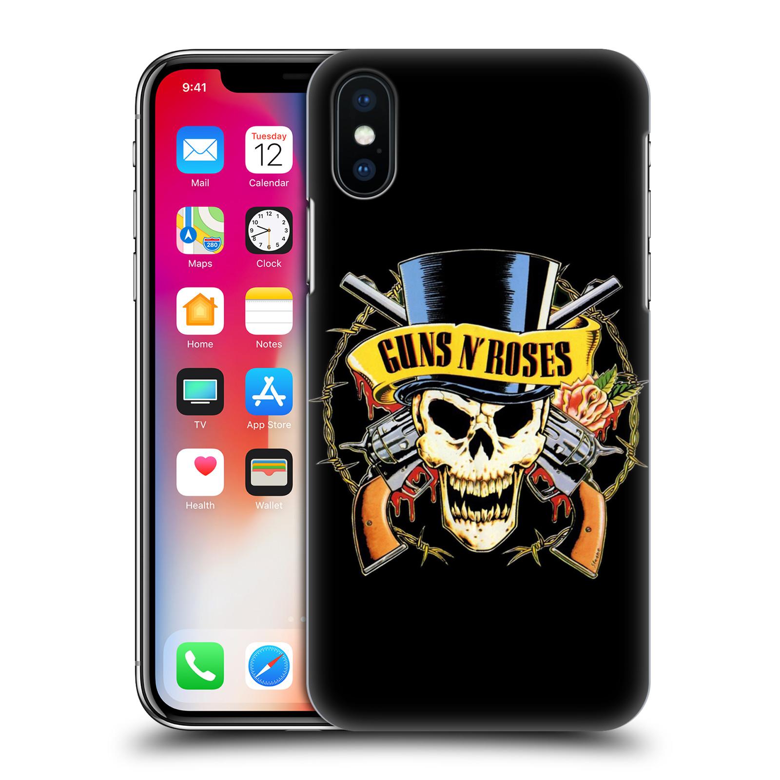 Plastové pouzdro na mobil Apple iPhone X - Head Case - Guns N' Roses - Lebka