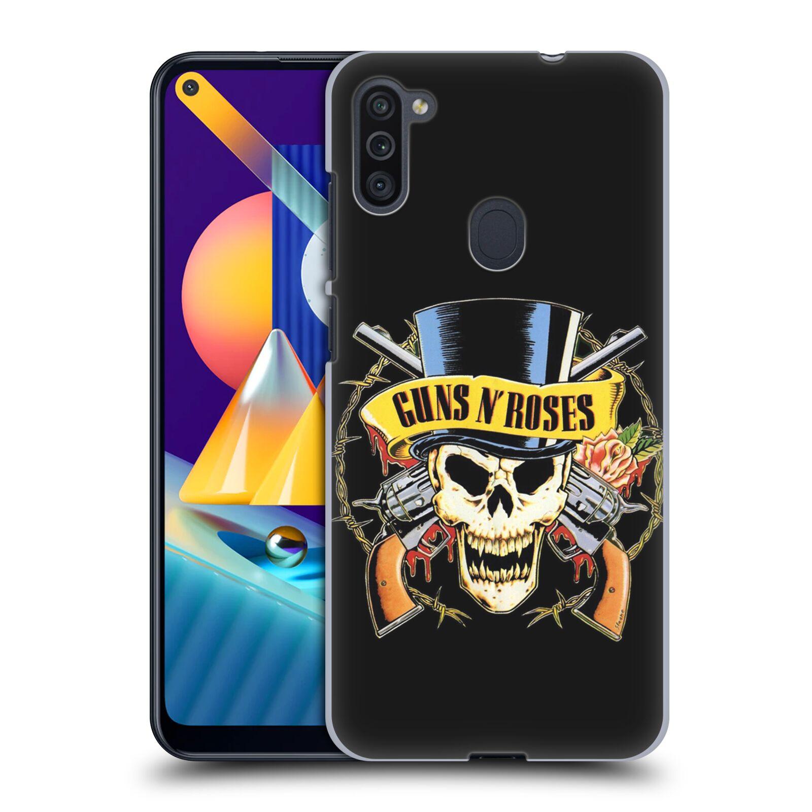 Plastové pouzdro na mobil Samsung Galaxy M11 - Head Case - Guns N' Roses - Lebka