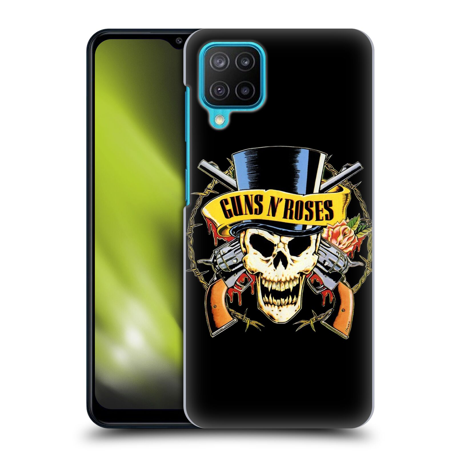 Plastové pouzdro na mobil Samsung Galaxy M12 - Head Case - Guns N' Roses - Lebka