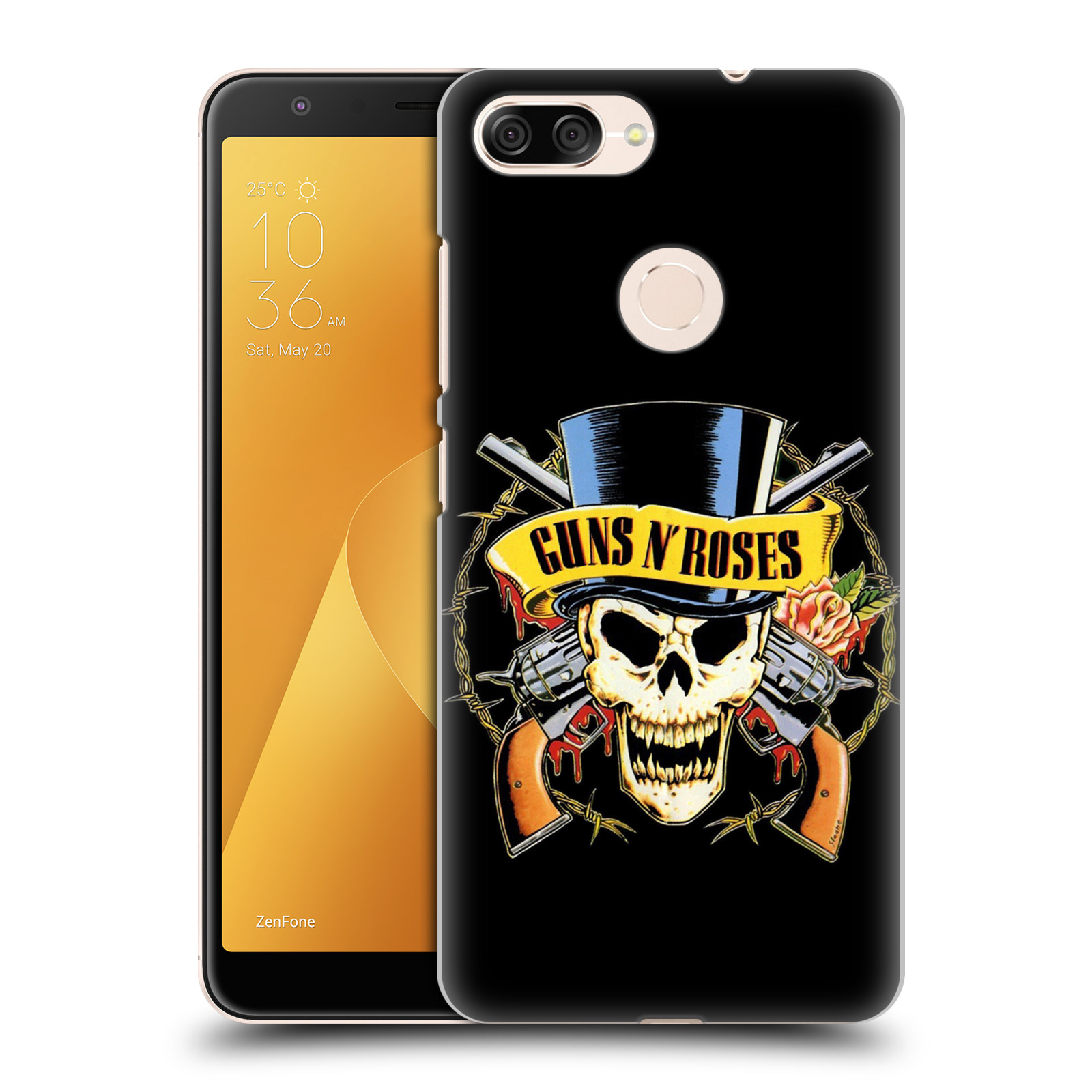 Plastové pouzdro na mobil Asus ZenFone Max Plus (M1) - Head Case - Guns N' Roses - Lebka